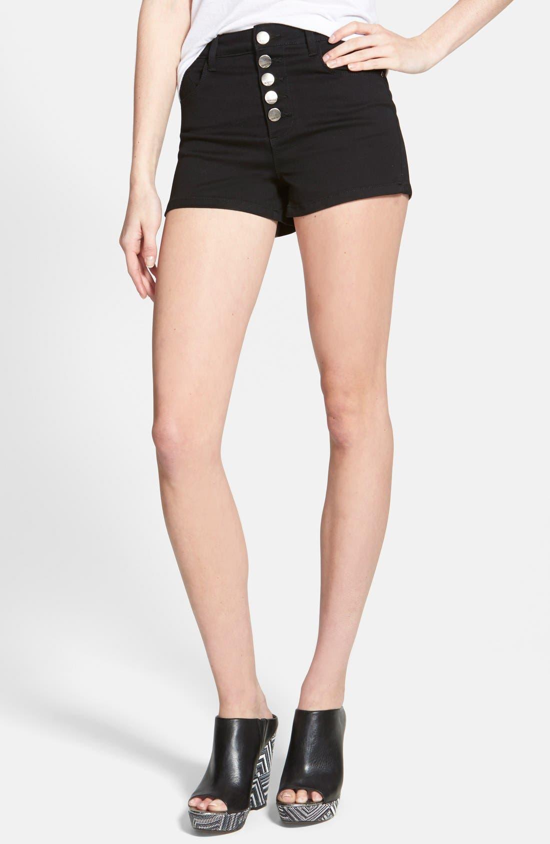 Main Image - Generra High Waist Button Front Shorts (Juniors)