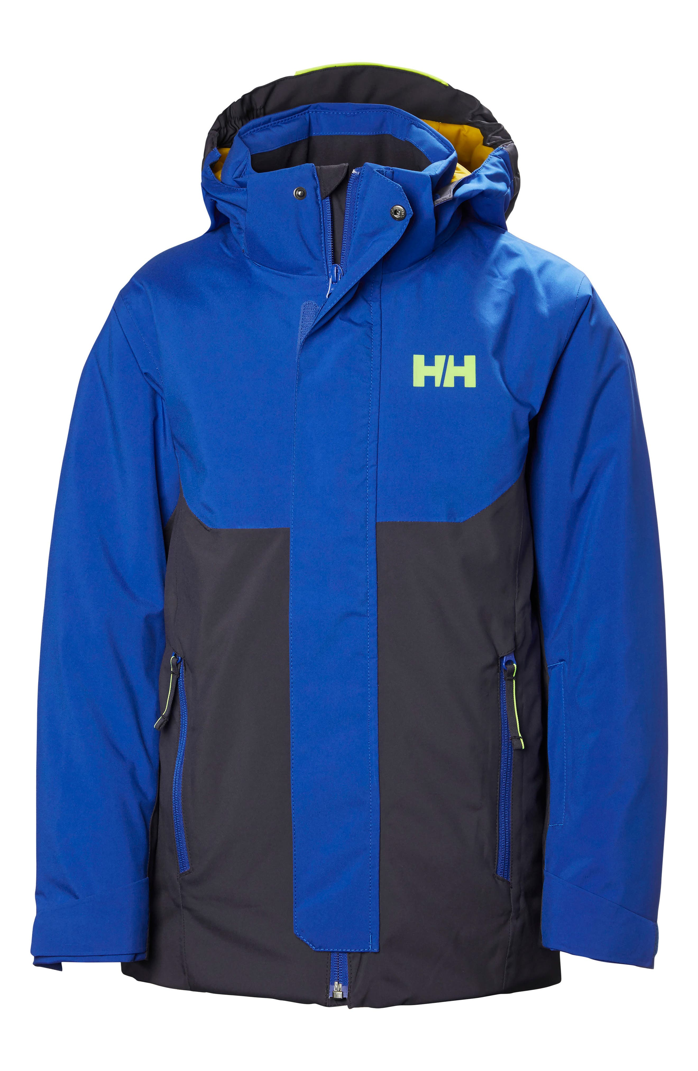 Univers Waterproof Insulated Hooded Jacket,                         Main,                         color, Graphite Blue
