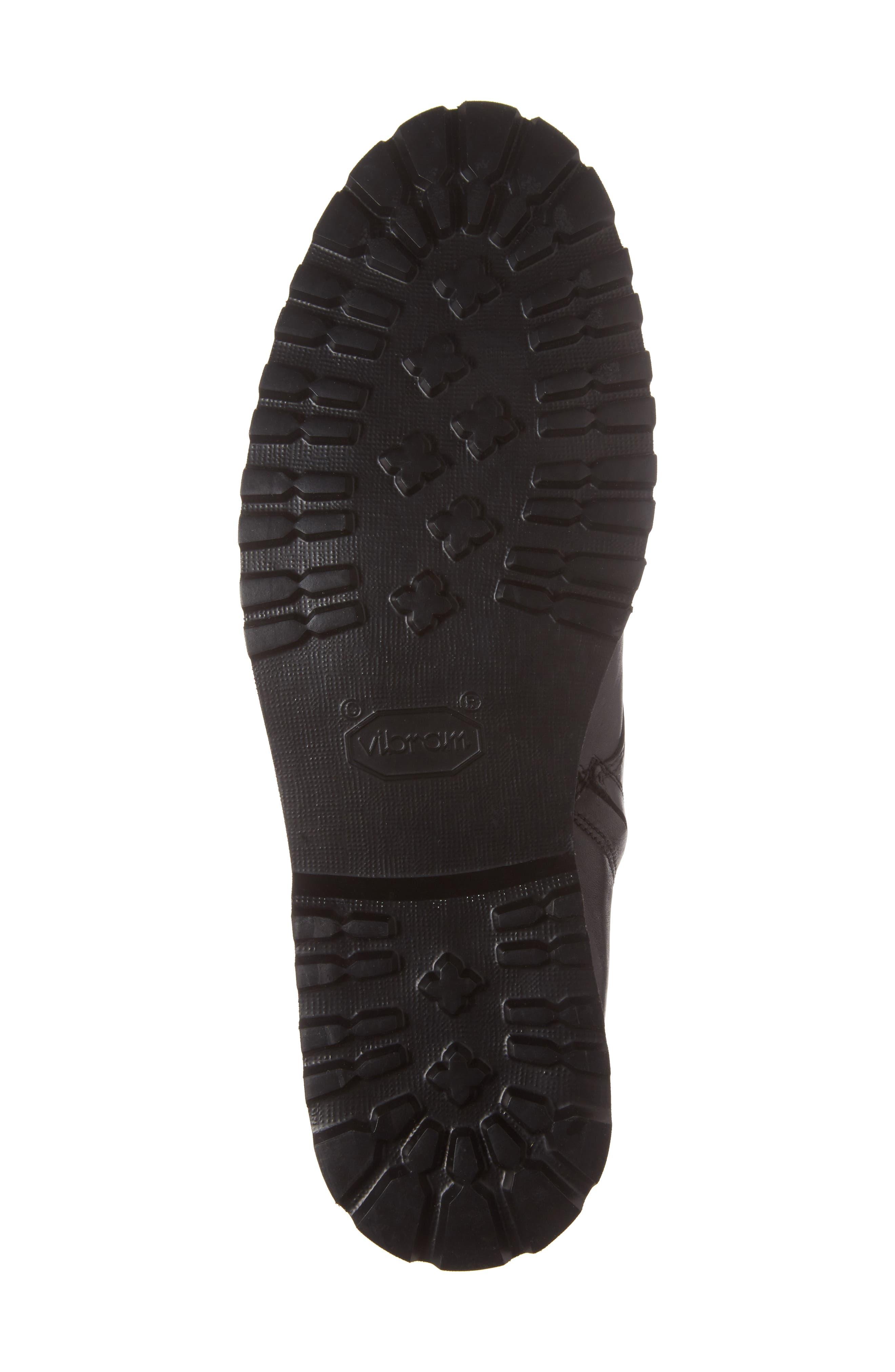 Uptown Maverick Cap Toe Boot,                             Alternate thumbnail 6, color,                             Black Leather