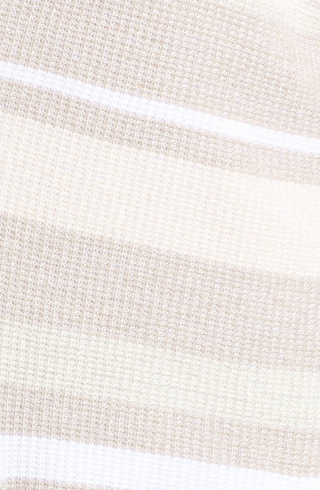 Rhona Textured Stripe Longline Cardigan,                             Alternate thumbnail 5, color,                             Neutral