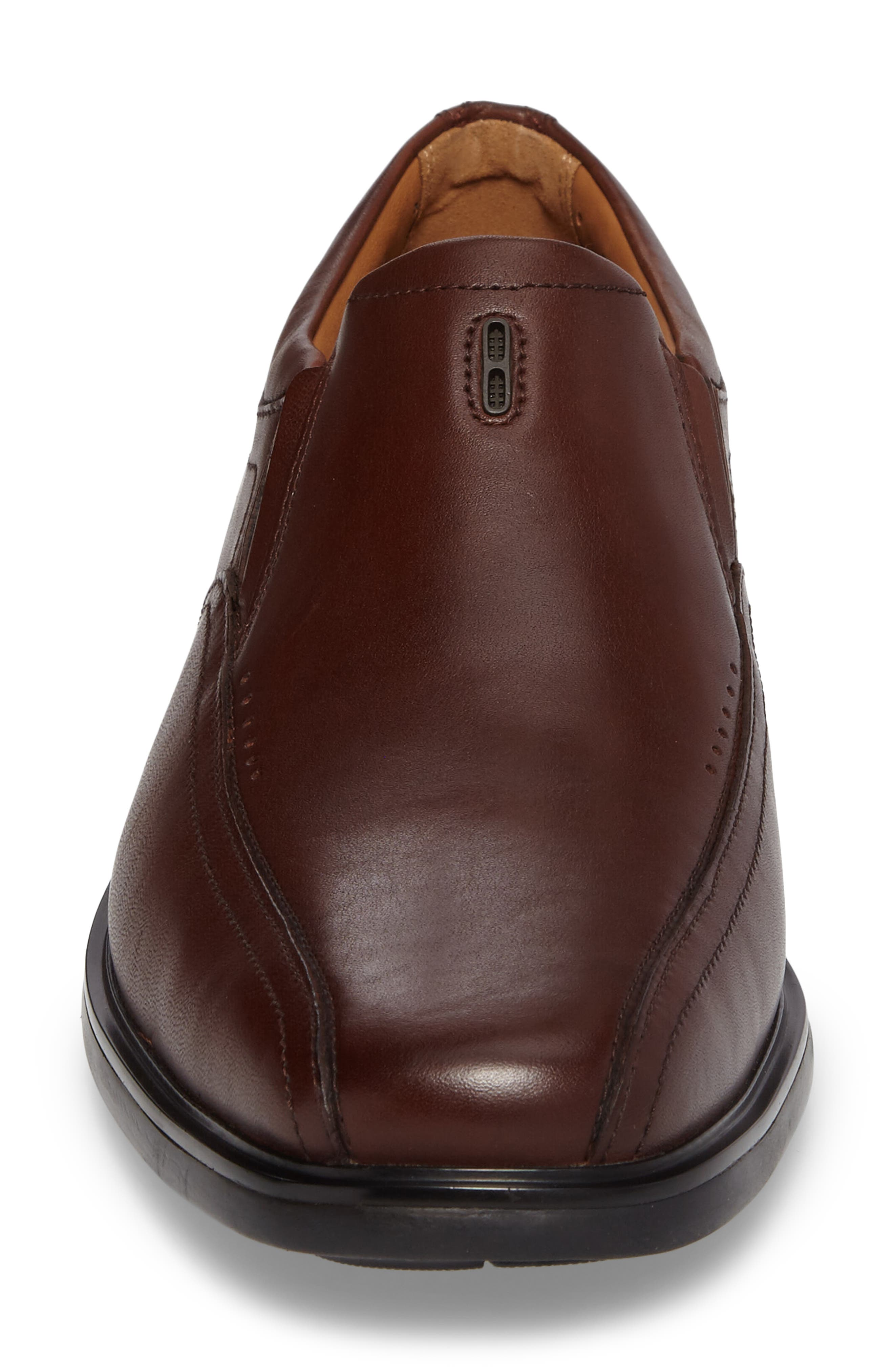Un.Sheridan Go Loafer,                             Alternate thumbnail 4, color,                             Brown Leather