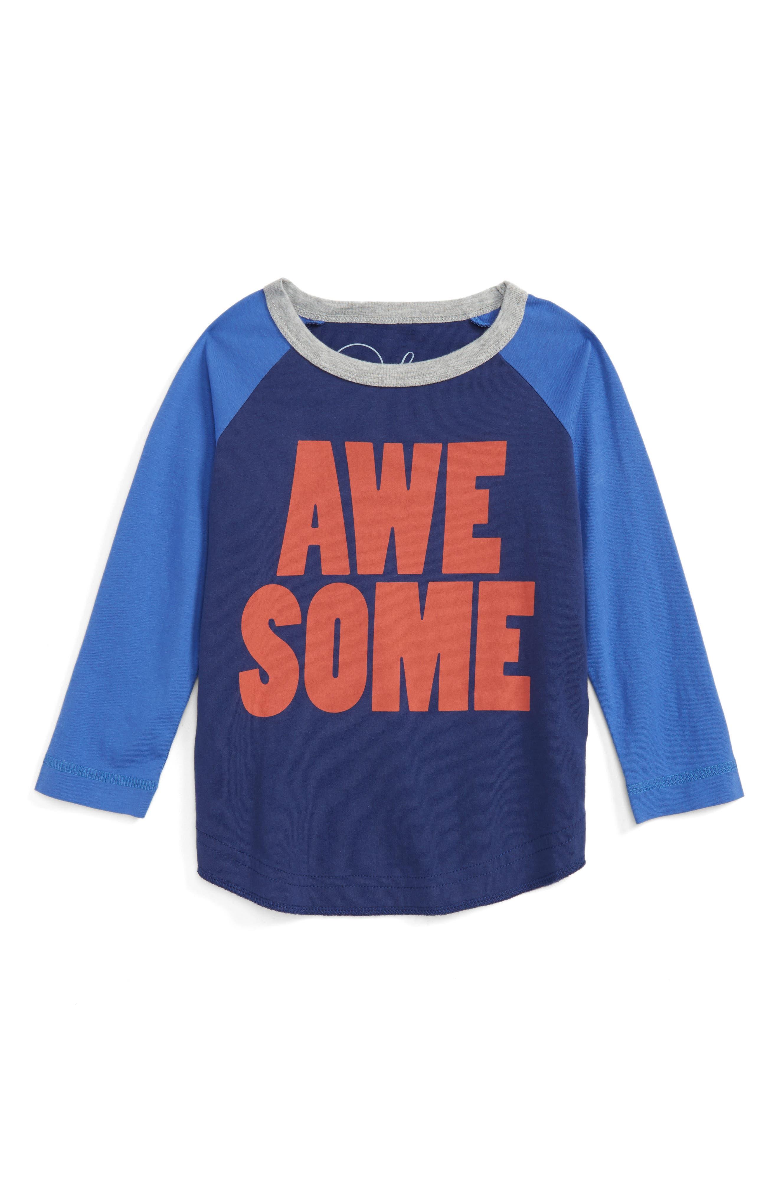 Peek Awesome Raglan T-Shirt (Toddler Boys, Little Boys & Big Boys)