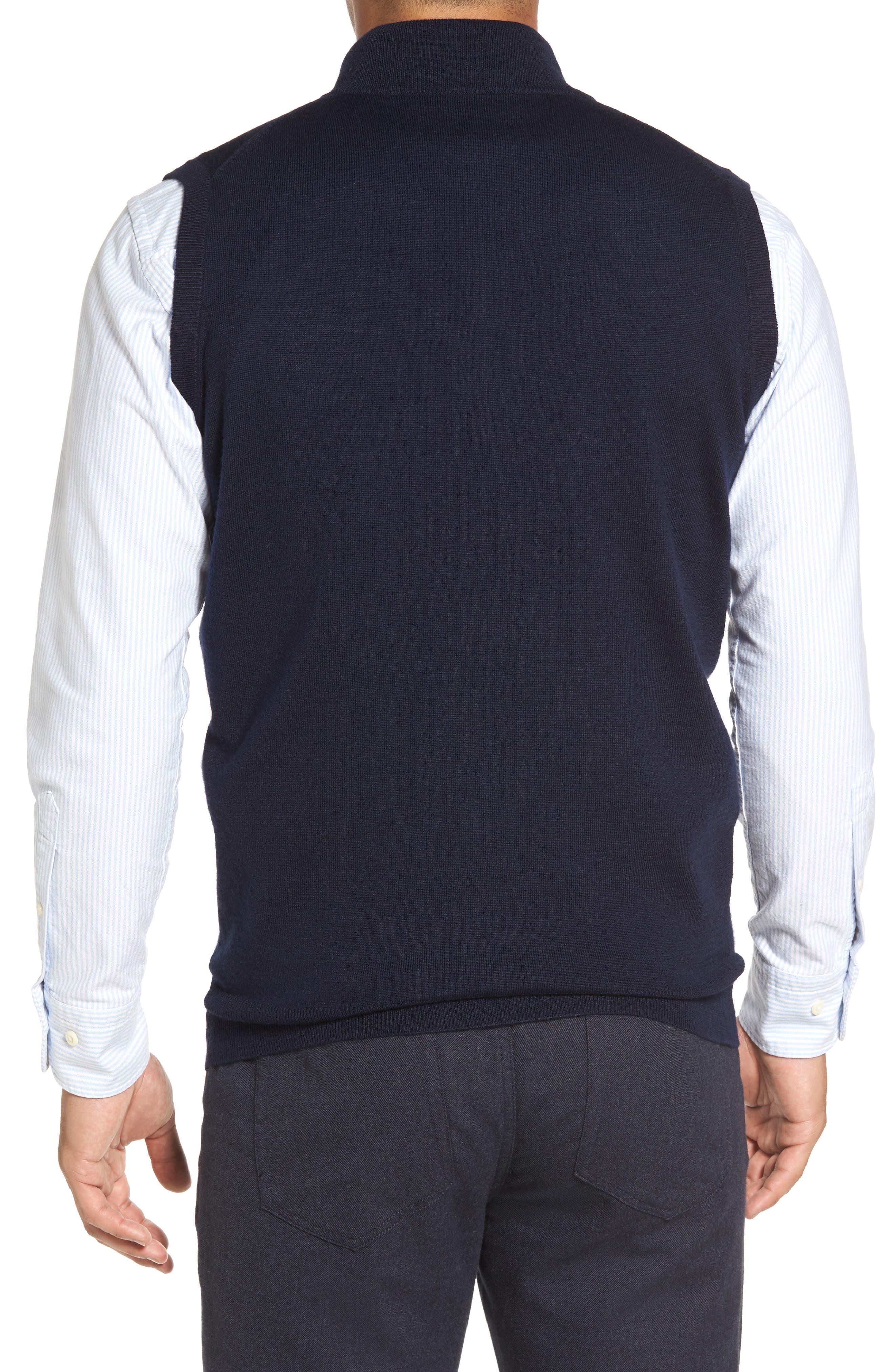 Alternate Image 2  - Peter Millar Crown Soft Merino Blend Quarter Zip Vest