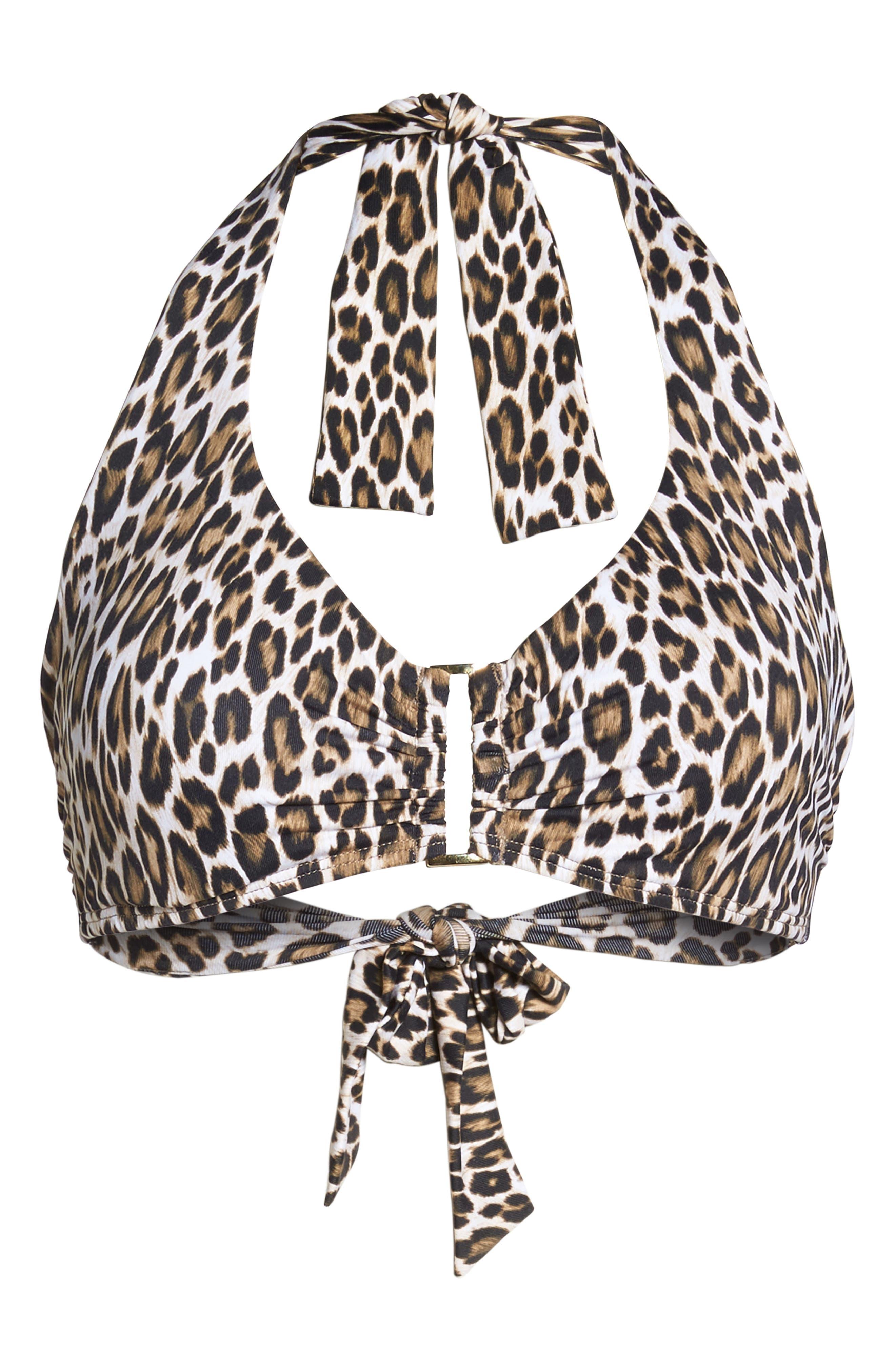 Cat's Meow Underwire Bikini Top,                             Alternate thumbnail 6, color,                             Handlewood