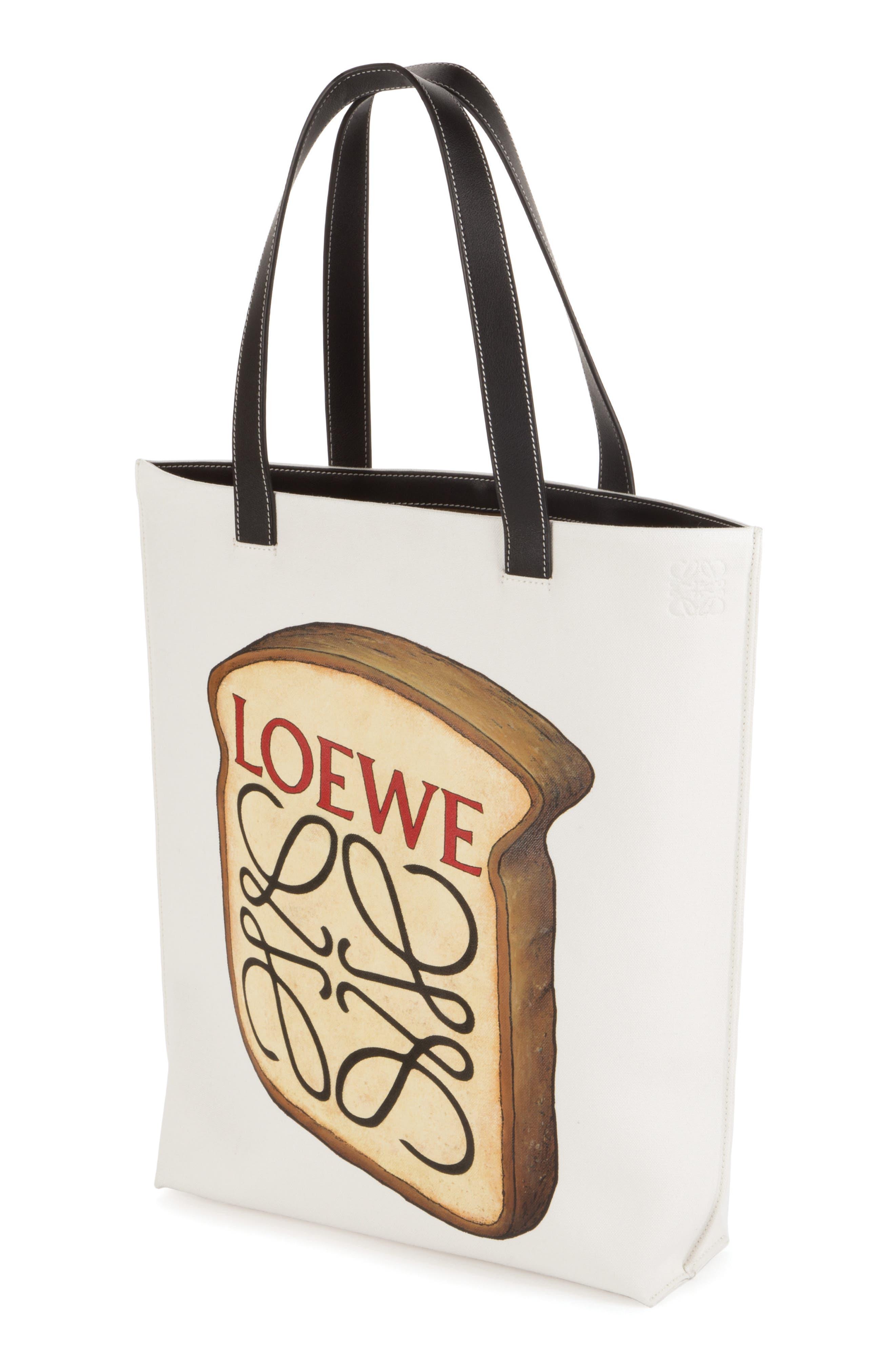 LOEWE Toast Logo Canvas Tote
