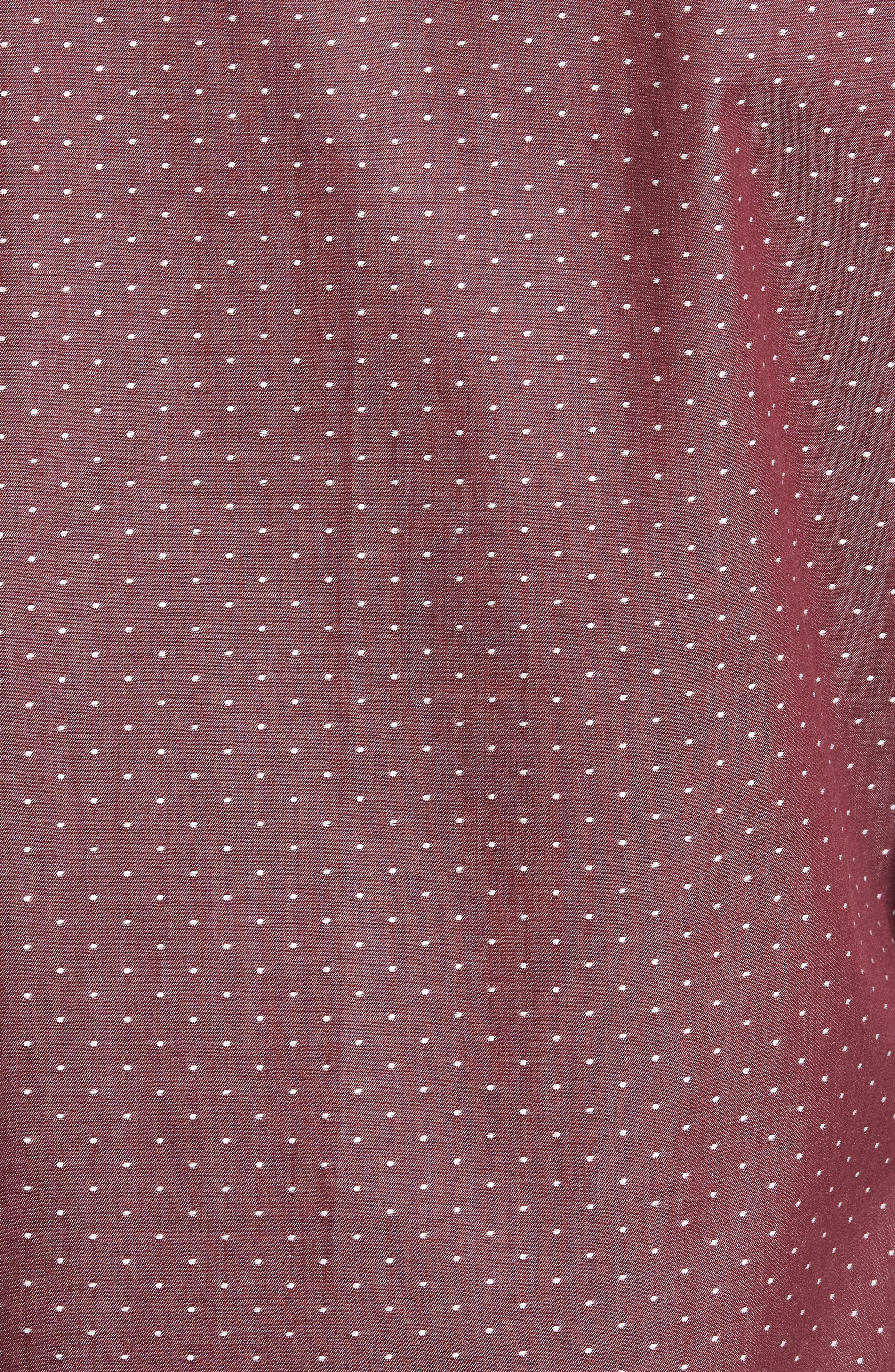 Alternate Image 6  - Jeff Slim Fit Dot Print Sport Shirt