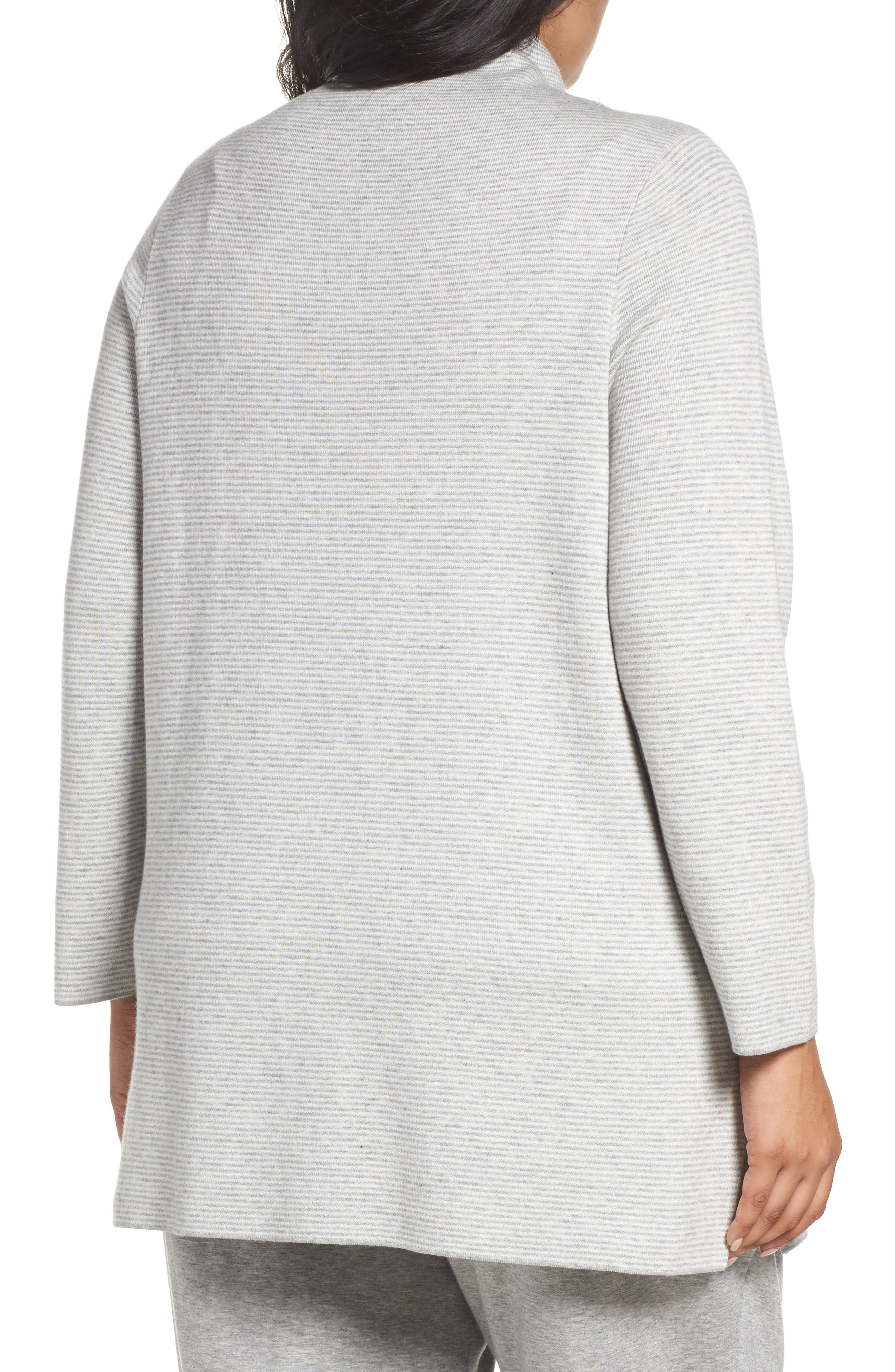 Alternate Image 2  - Eileen Fisher Reversible Funnel Neck Tunic Sweater (Plus Size)