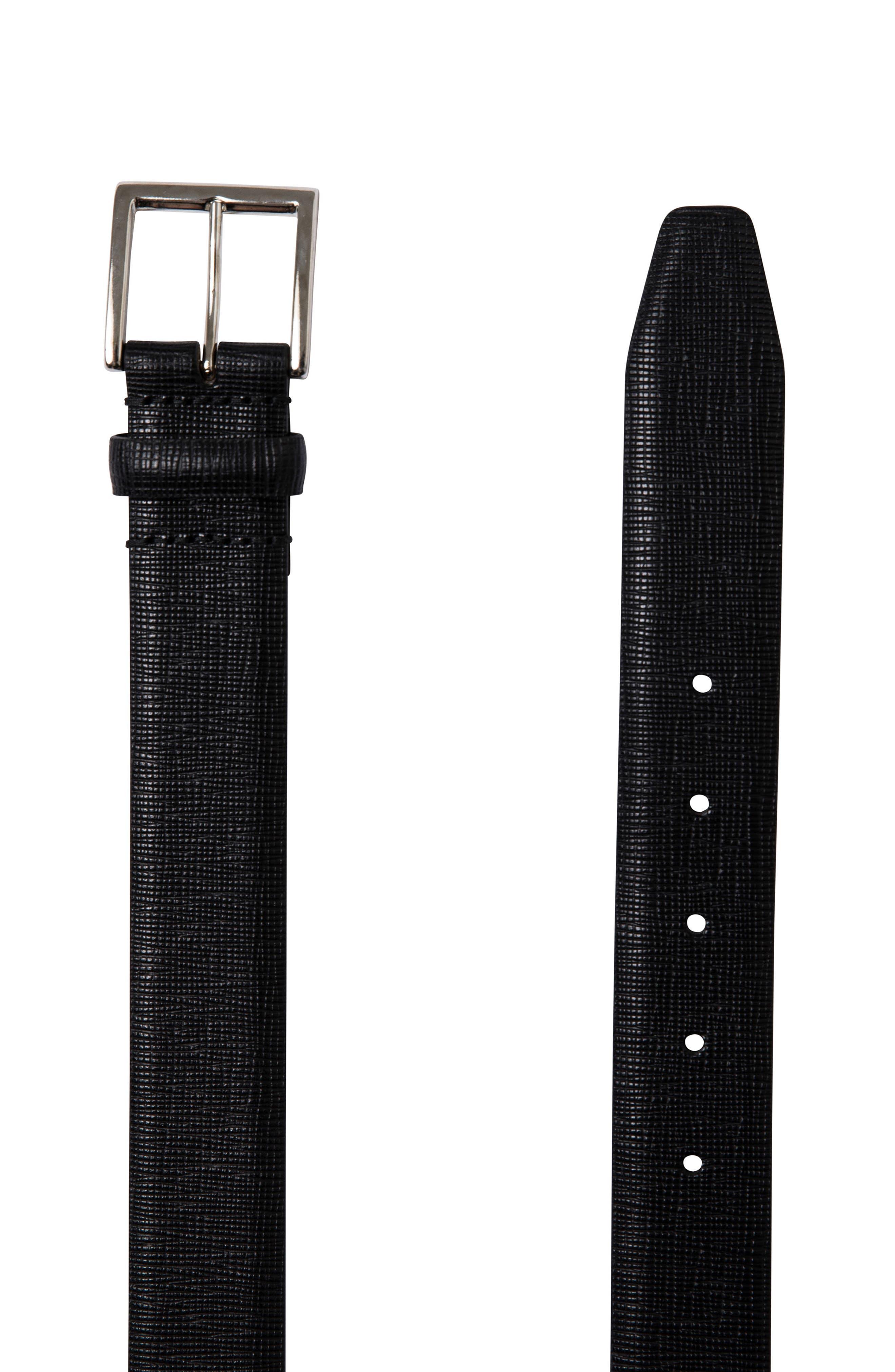 Baywater Avenue Leather Belt,                             Alternate thumbnail 2, color,                             Nero