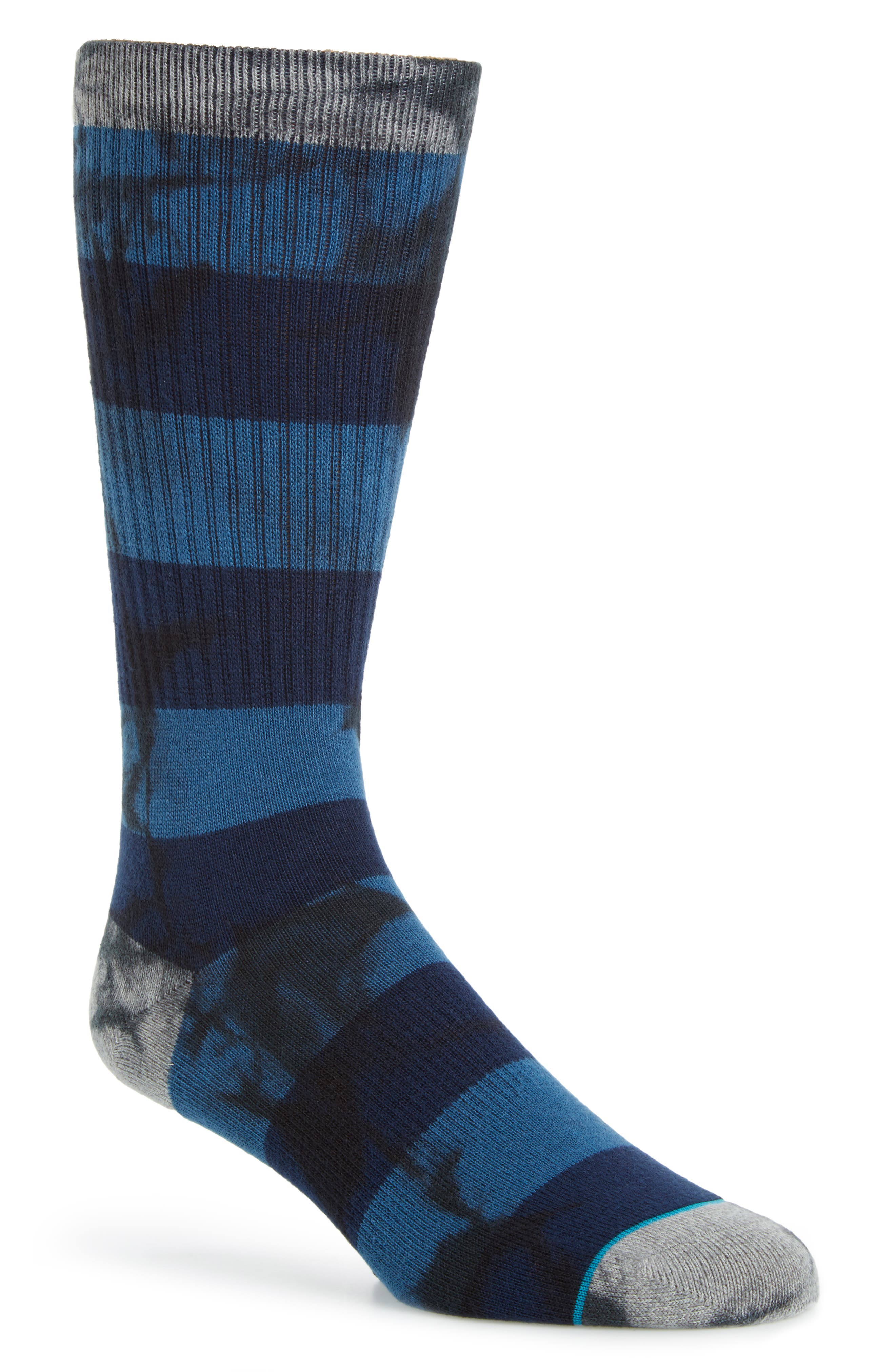 Wells Classic Crew Socks,                         Main,                         color, Blue