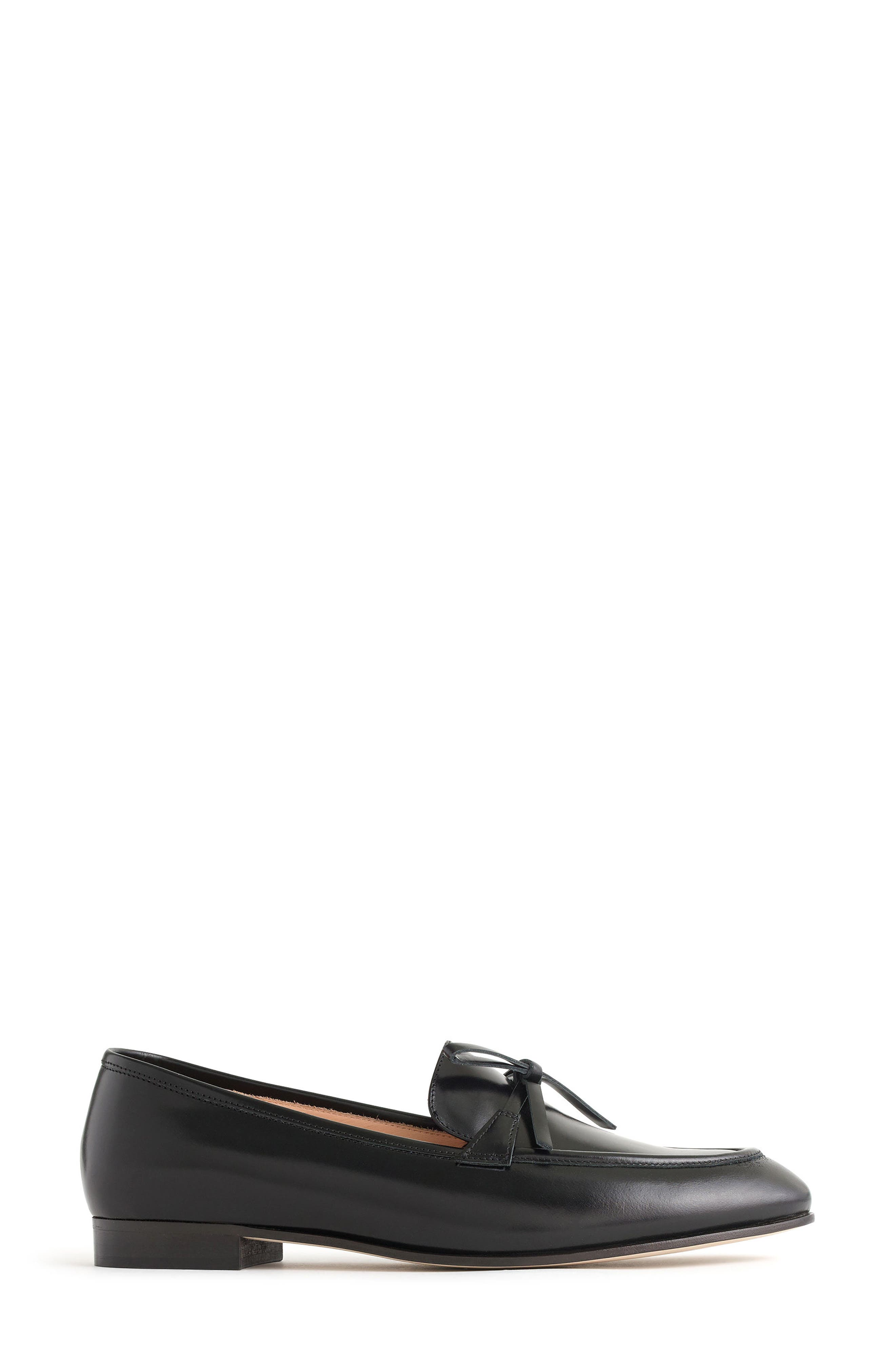 Bow Loafer,                             Alternate thumbnail 3, color,                             Black Leather
