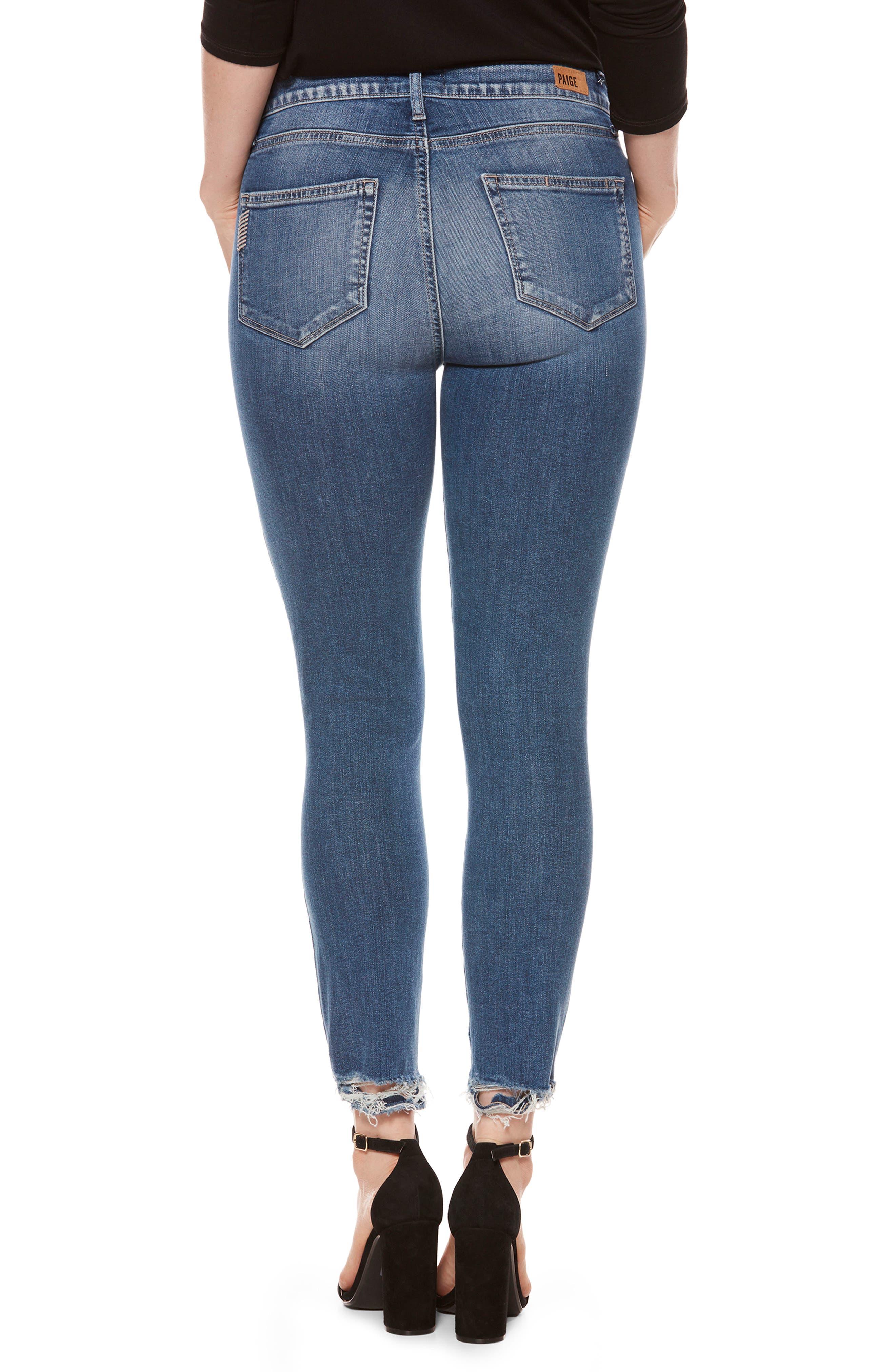 Alternate Image 2  - PAIGE Hoxton High Waist Crop Skinny Jeans (Addler Blue)