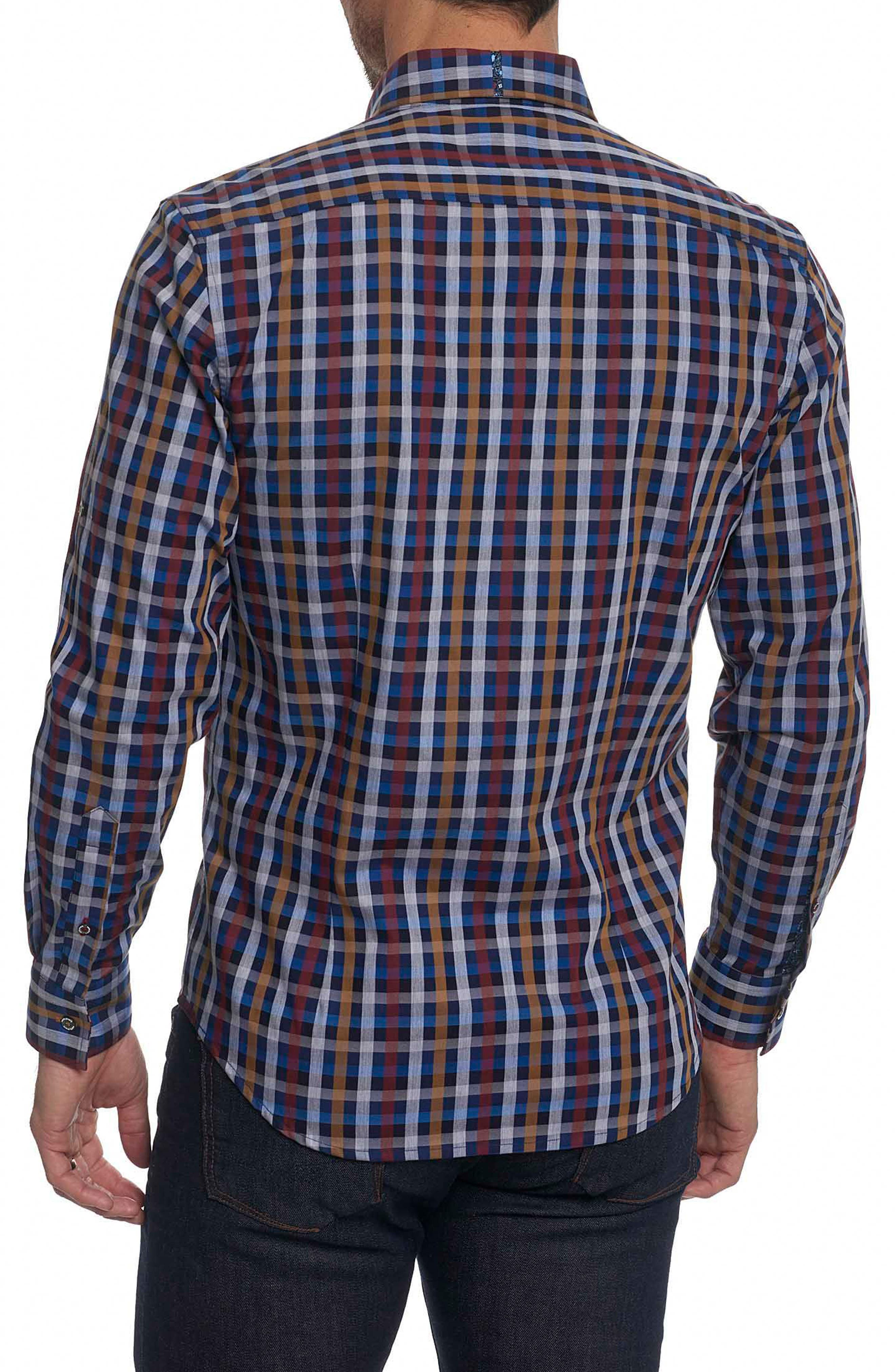 Carsons Tailored Fit Check Sport Shirt,                             Alternate thumbnail 2, color,                             Blue