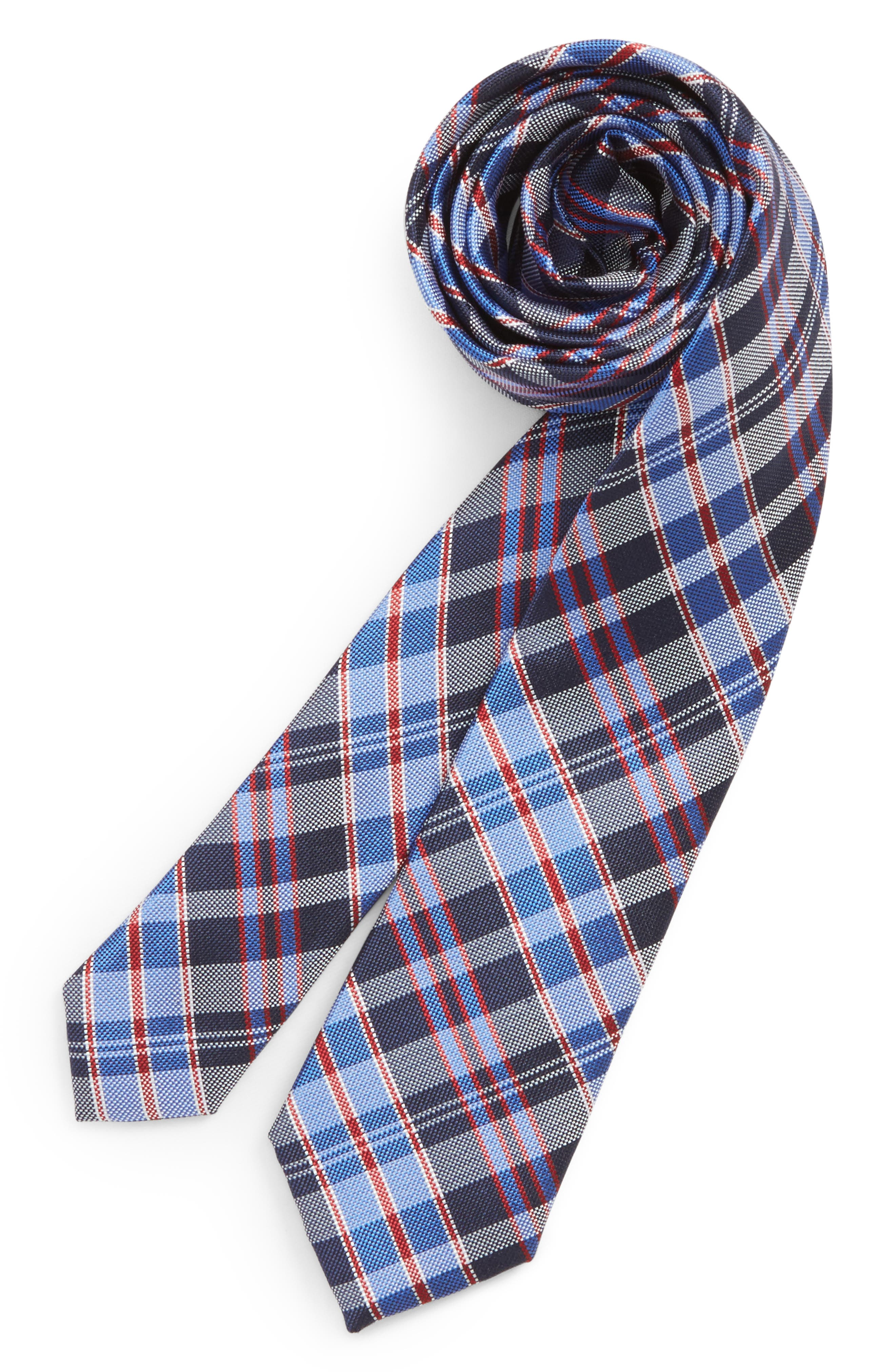 Alternate Image 1 Selected - Nordstrom Check Silk Tie (Big Boys)