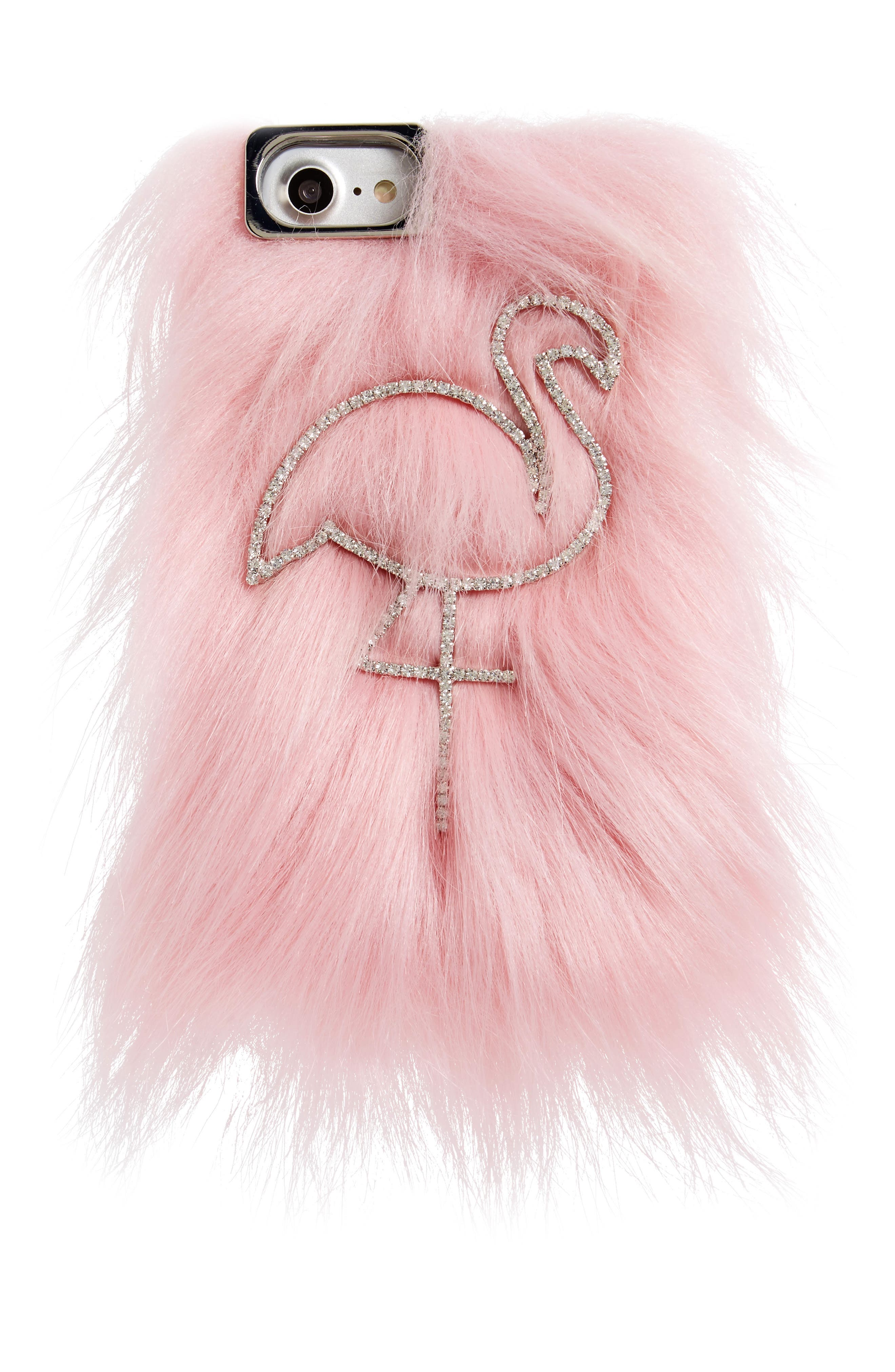 SKINNYDIP Skinny Dip Candy Flamingo iPhone 6/6s & 7 Faux Fur Case