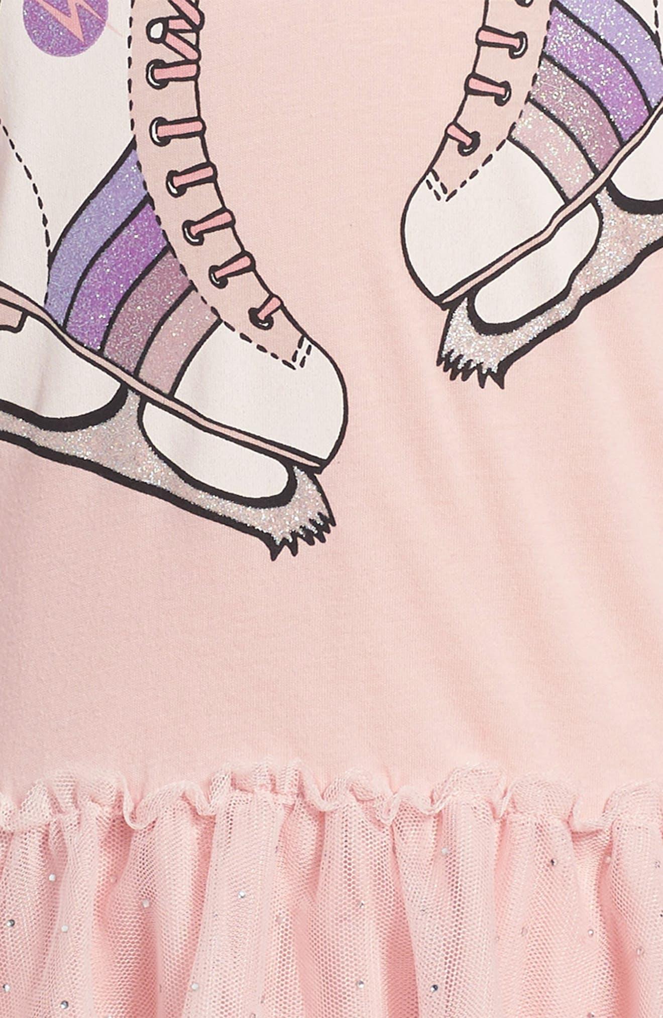 Kids Primrose Skates Dress,                             Alternate thumbnail 3, color,                             Pink