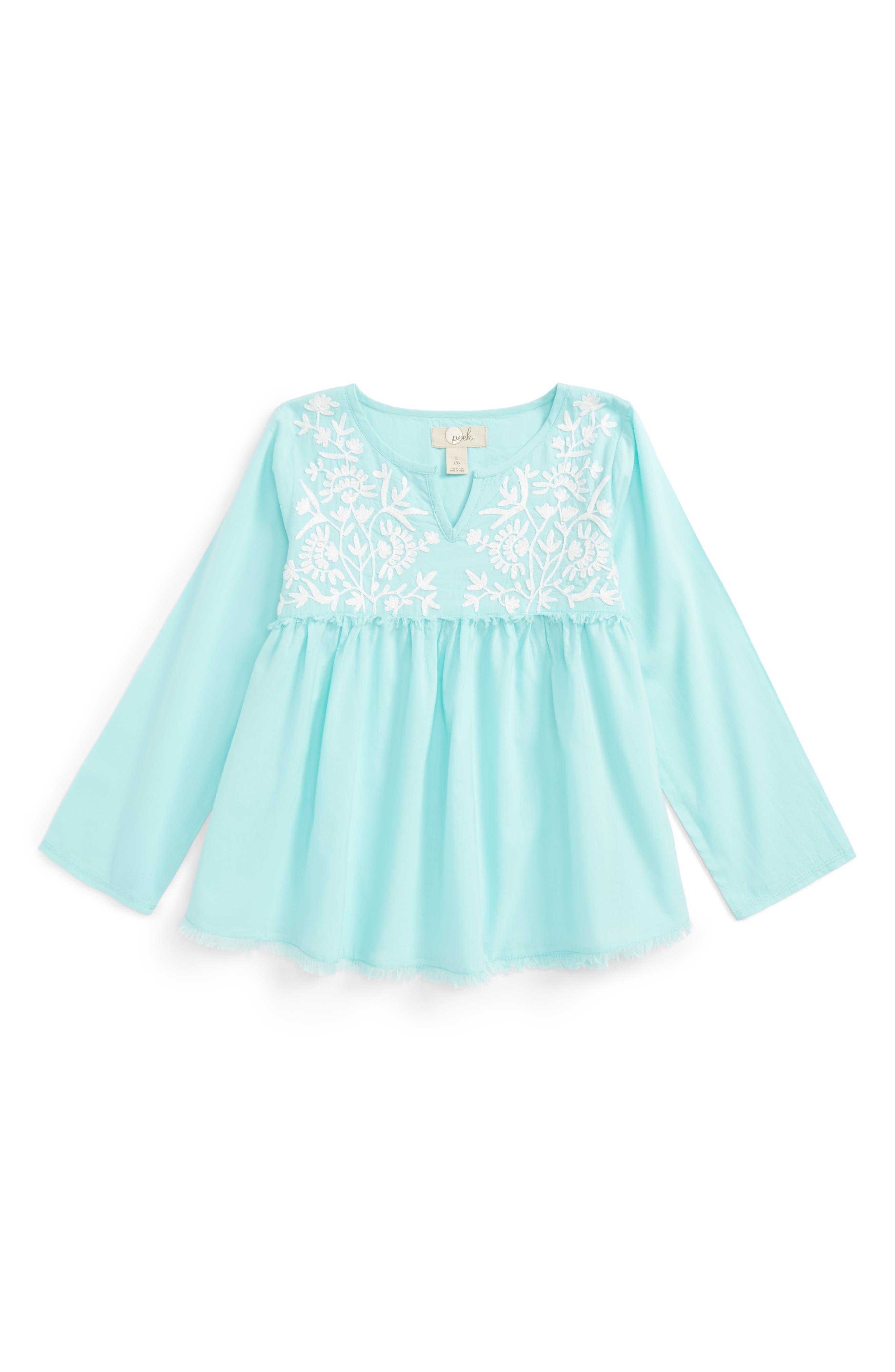 Alternate Image 1 Selected - Peek Daphne Embroidered Top (Toddler Girls, Little Girls & Big Girls)