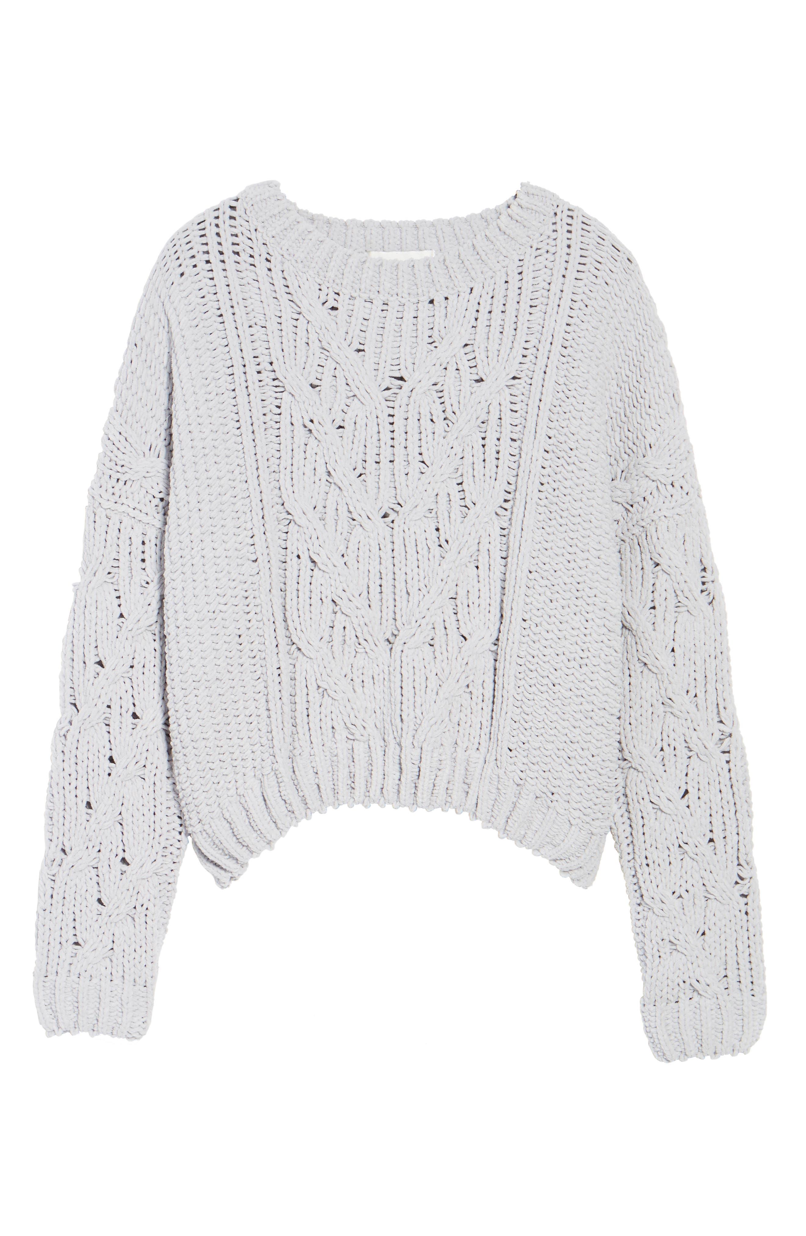 Cozy Crewneck Sweater,                             Alternate thumbnail 6, color,                             Light Grey