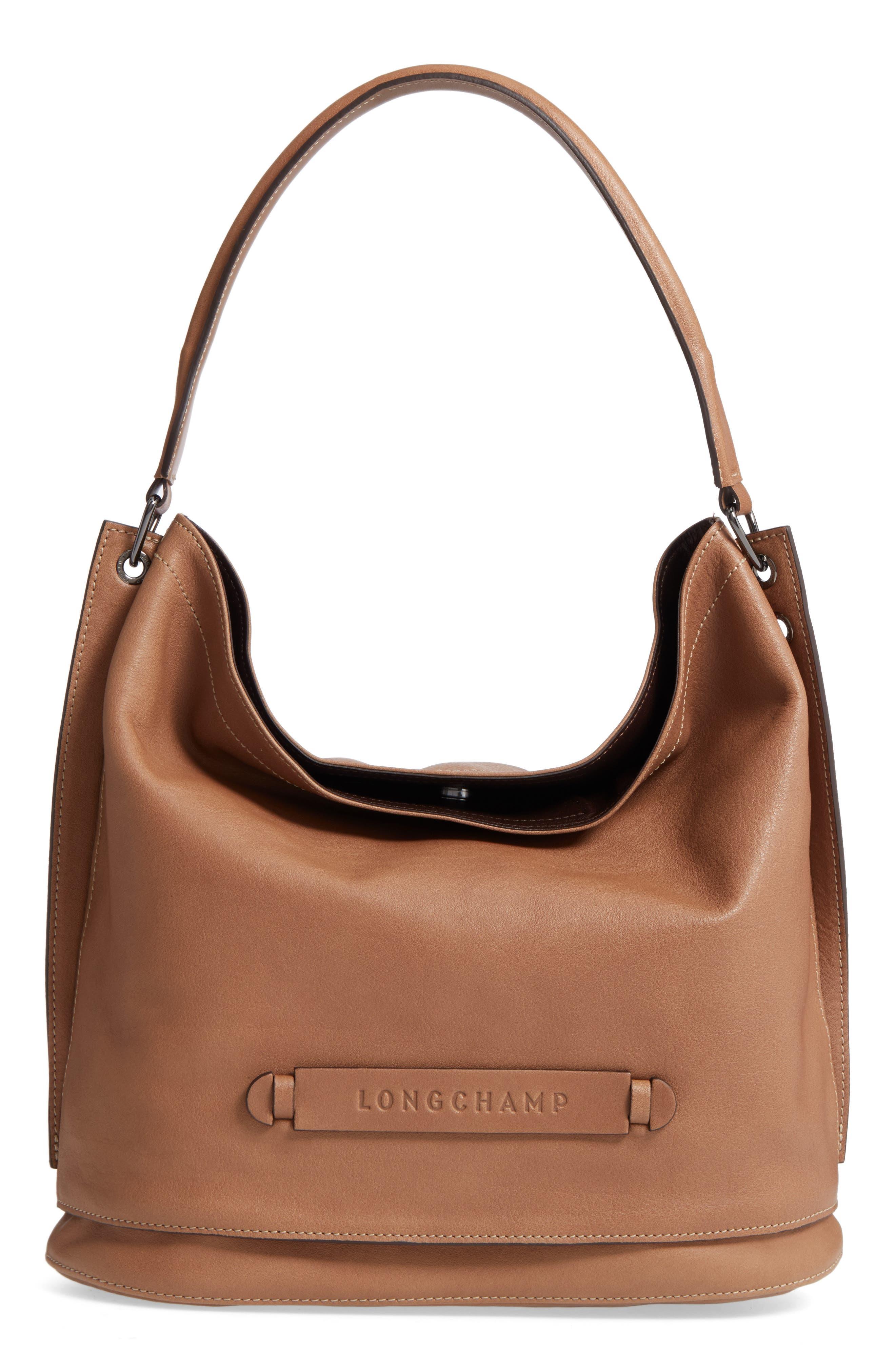 Longchamp '3D' Leather Hobo