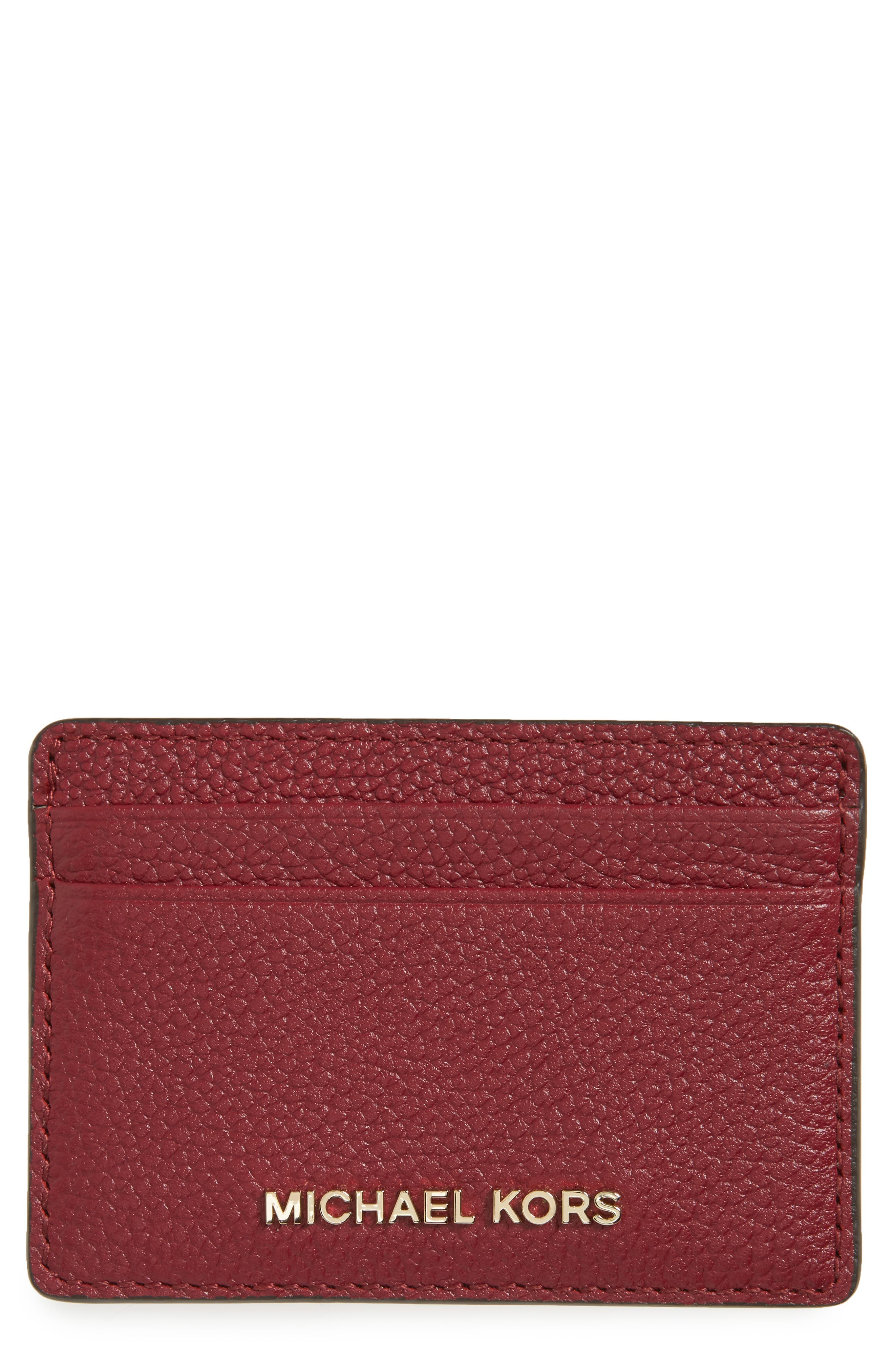 MICHAEL Michael Kors Money Pieces Leather Card Case