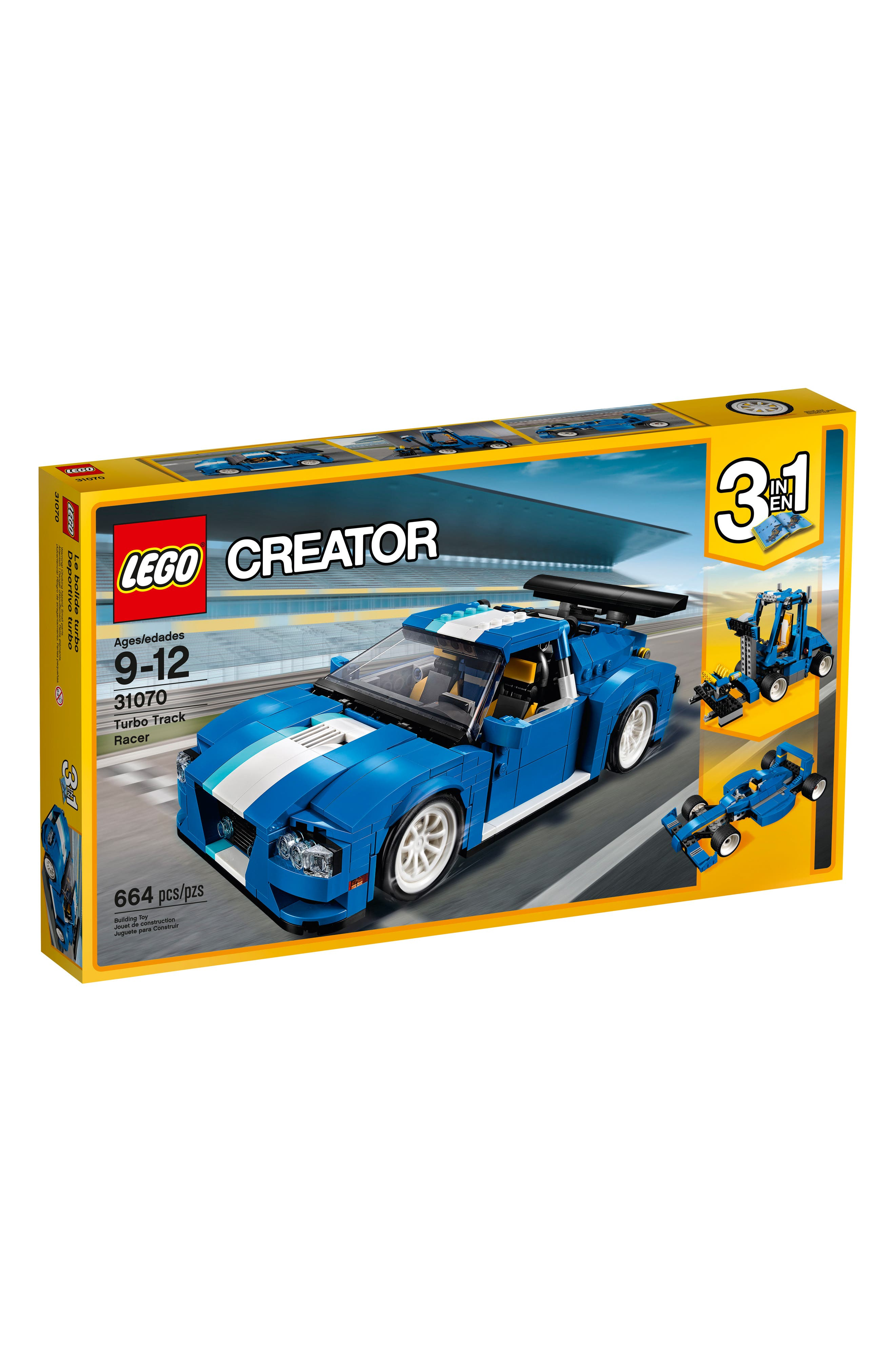 Creator 3-in-1 Turbo Track Racer - 31070,                         Main,                         color, Blue