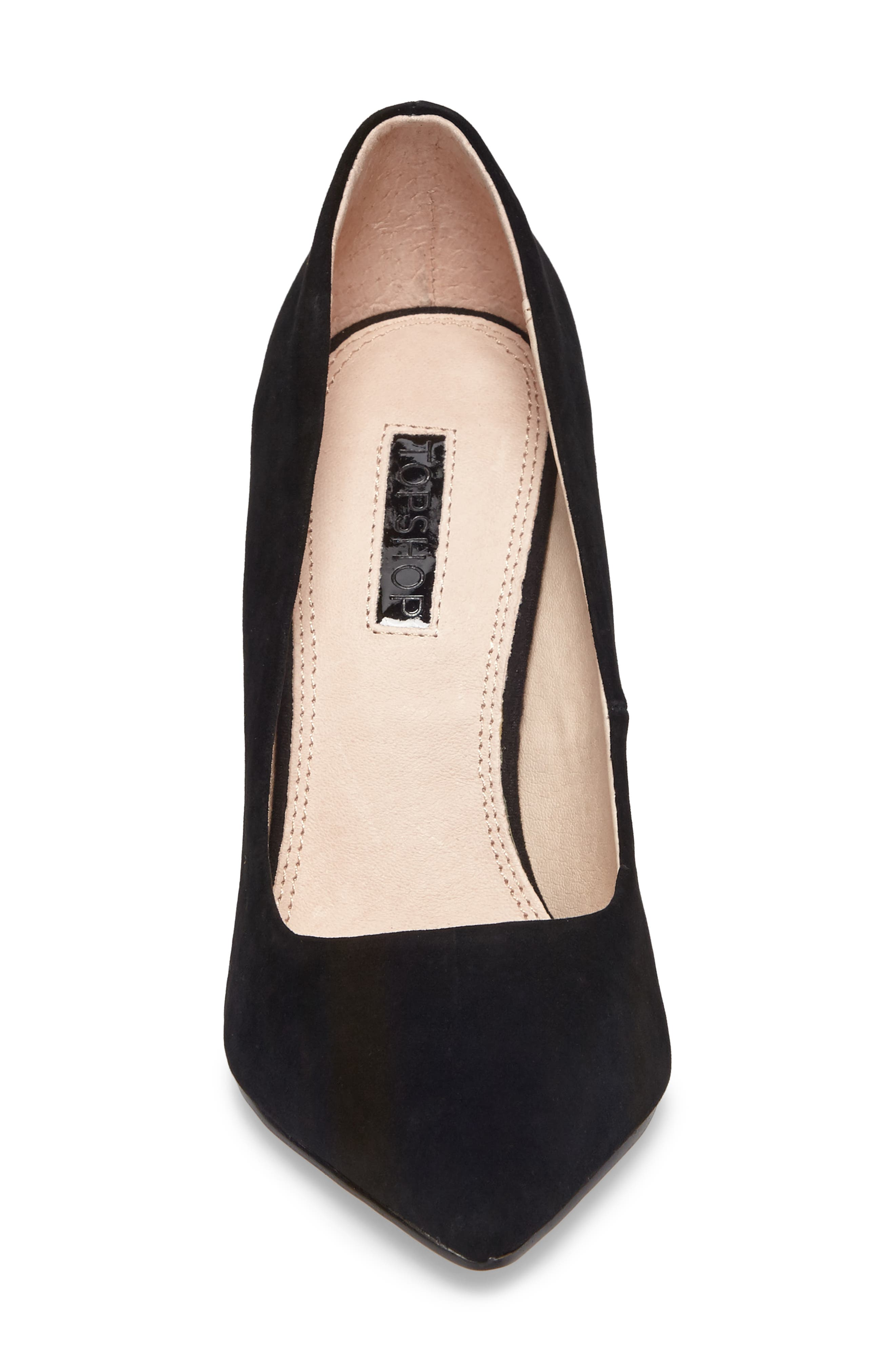 Grammer Pointy Toe Pump,                             Alternate thumbnail 4, color,                             Black Leather