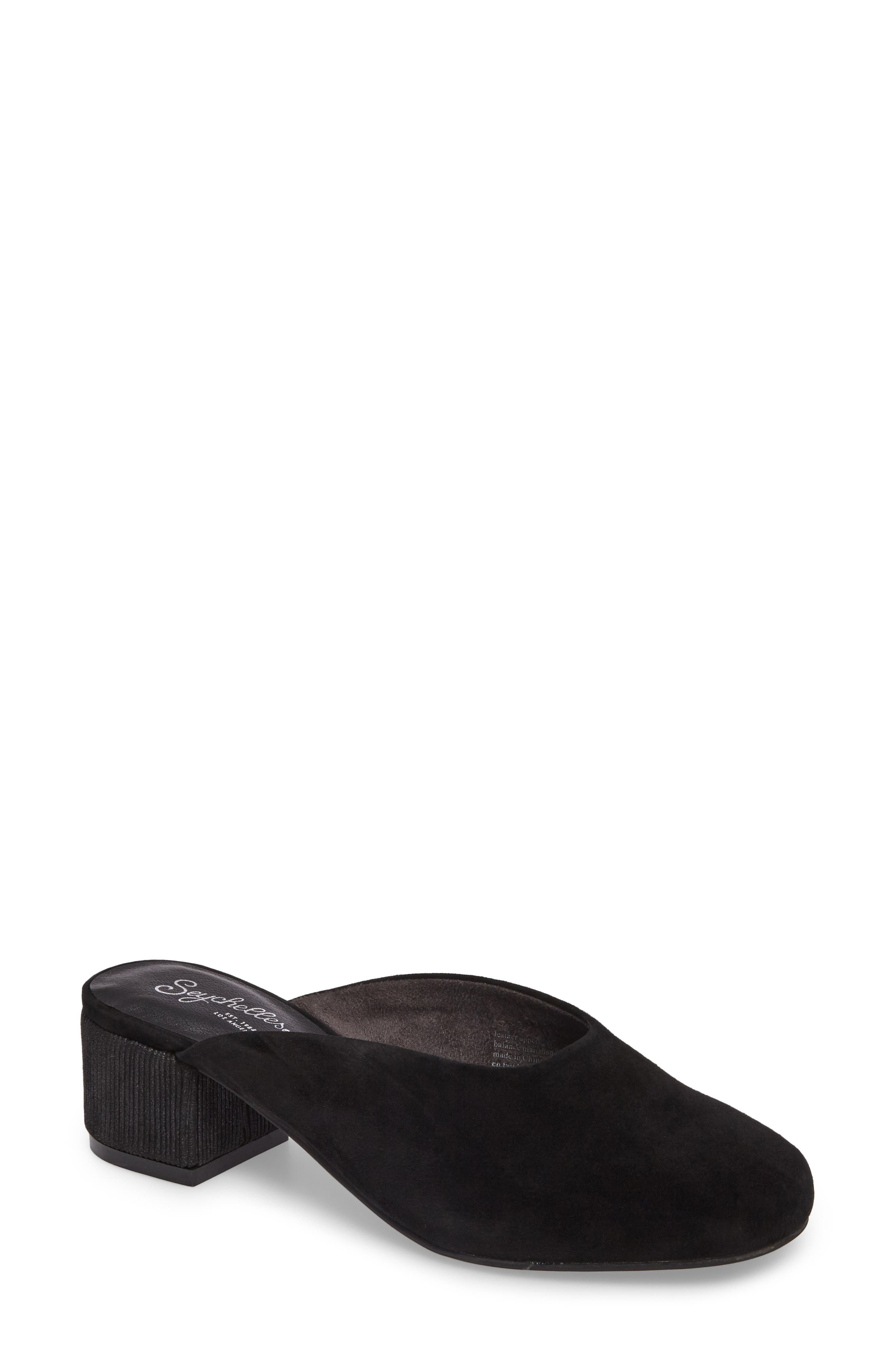 Chorus Mule,                             Main thumbnail 1, color,                             Black Suede