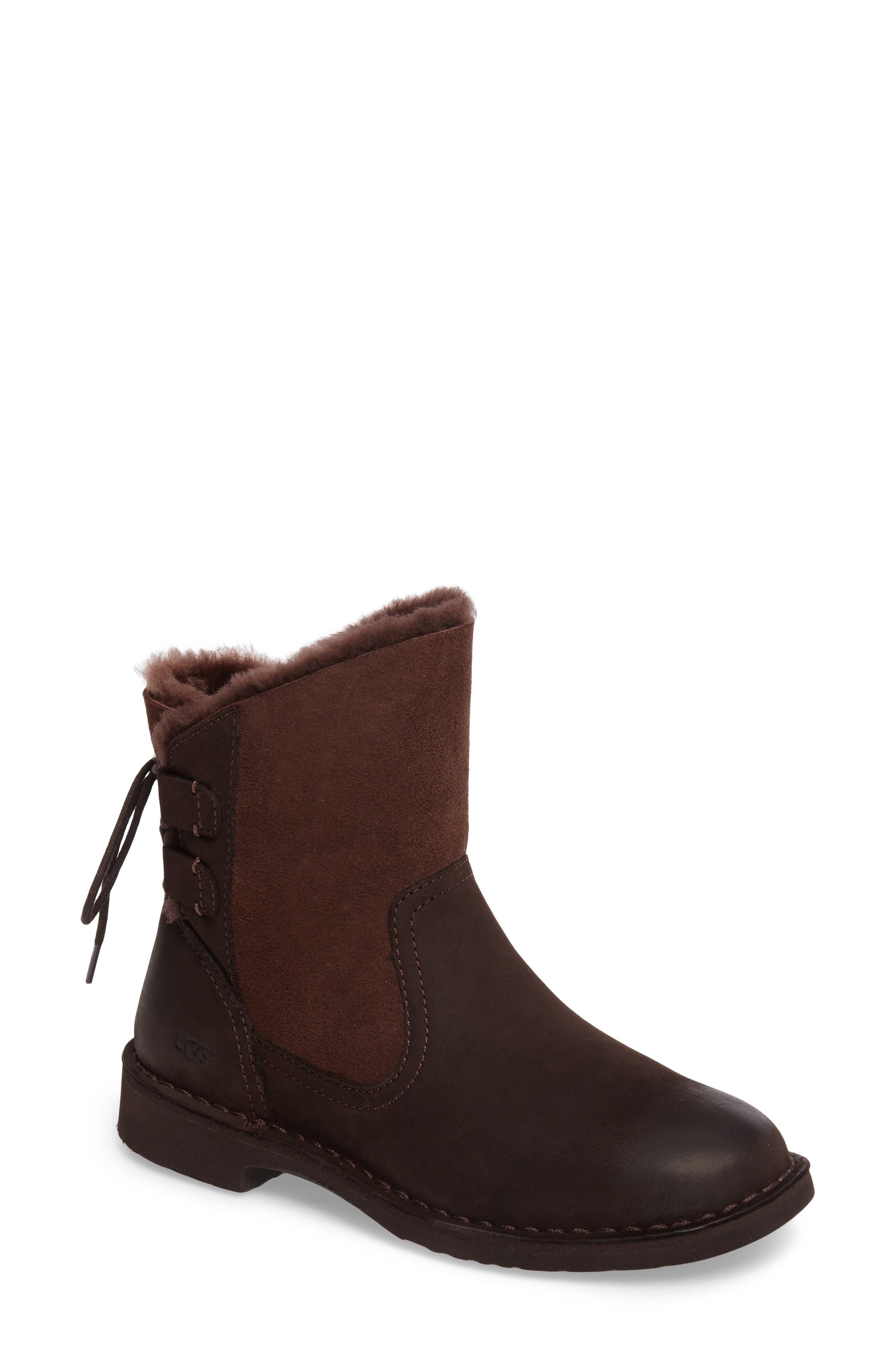 UGG® Naiyah Lace-Back Genuine Shearling Boot (Women)