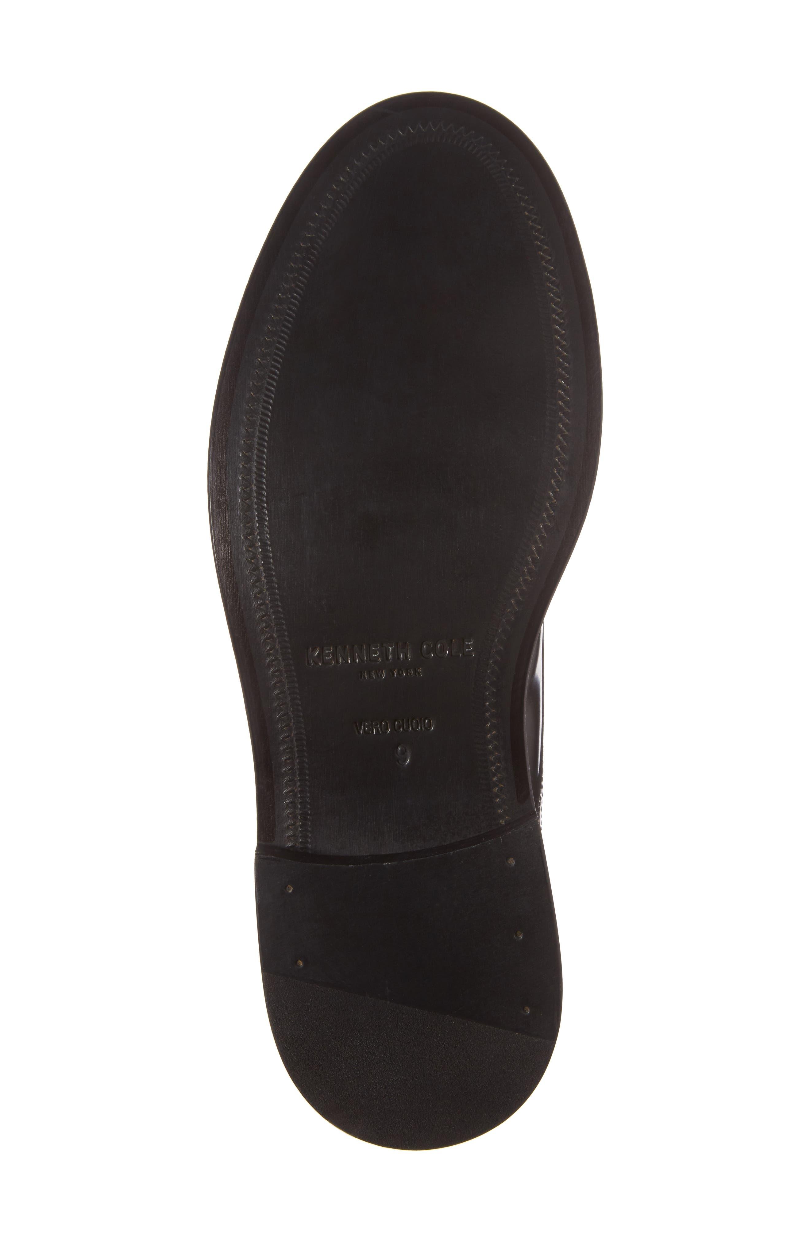 Plain Toe Boot,                             Alternate thumbnail 6, color,                             Black Leather