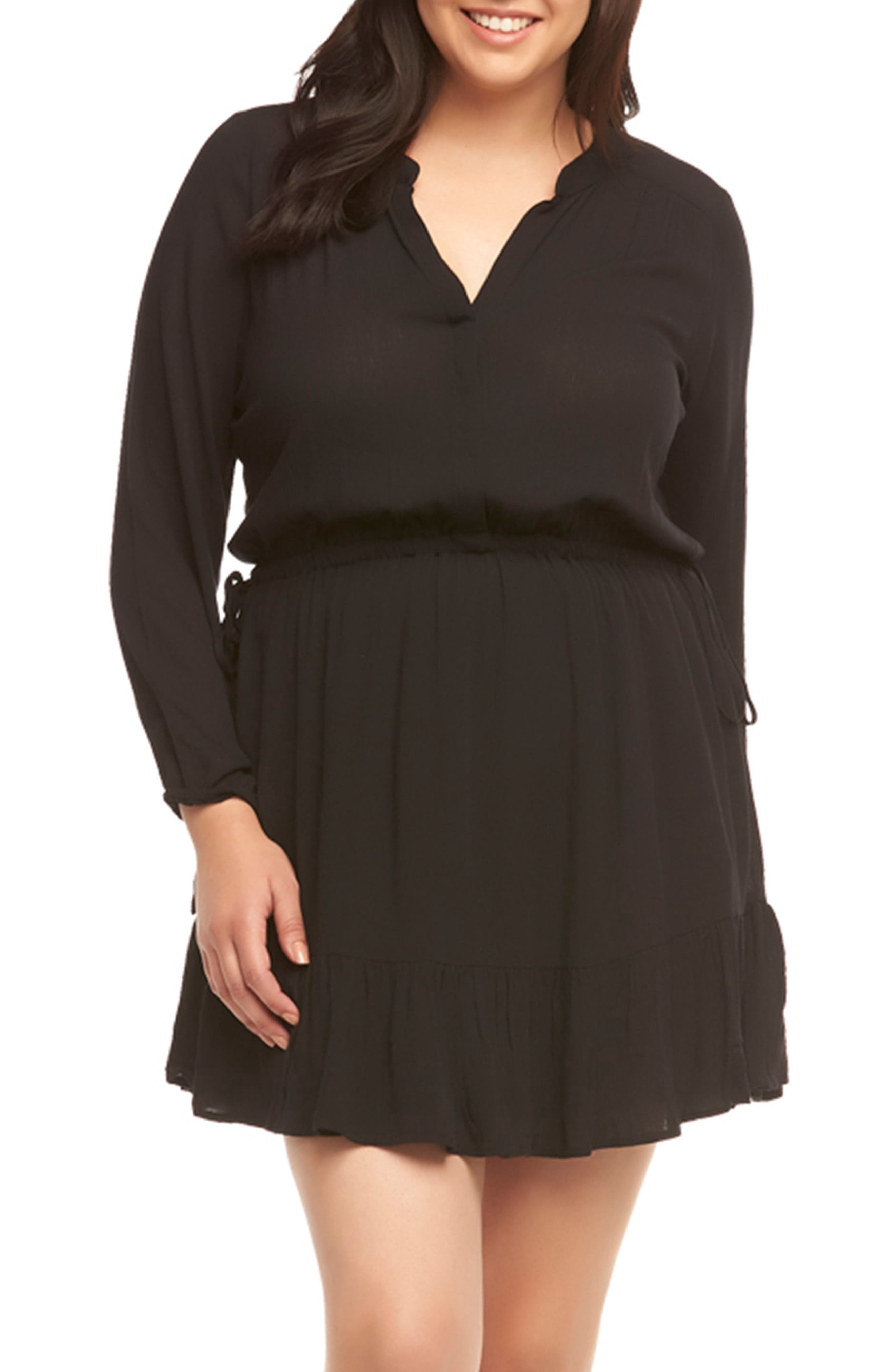 Sian Shirtdress,                         Main,                         color, Black