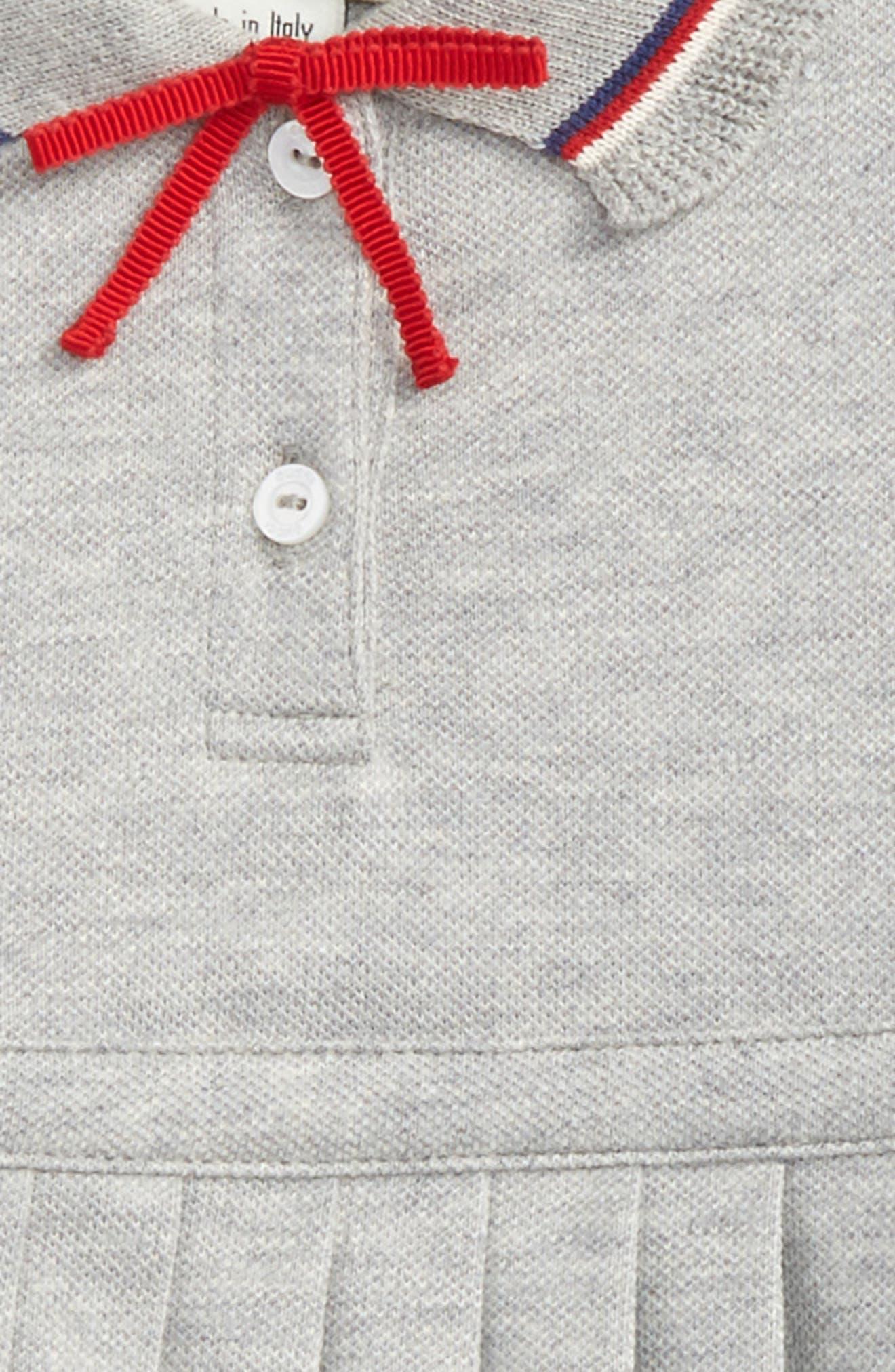 Bow Trimmed Dress,                             Alternate thumbnail 2, color,                             Grey Multi