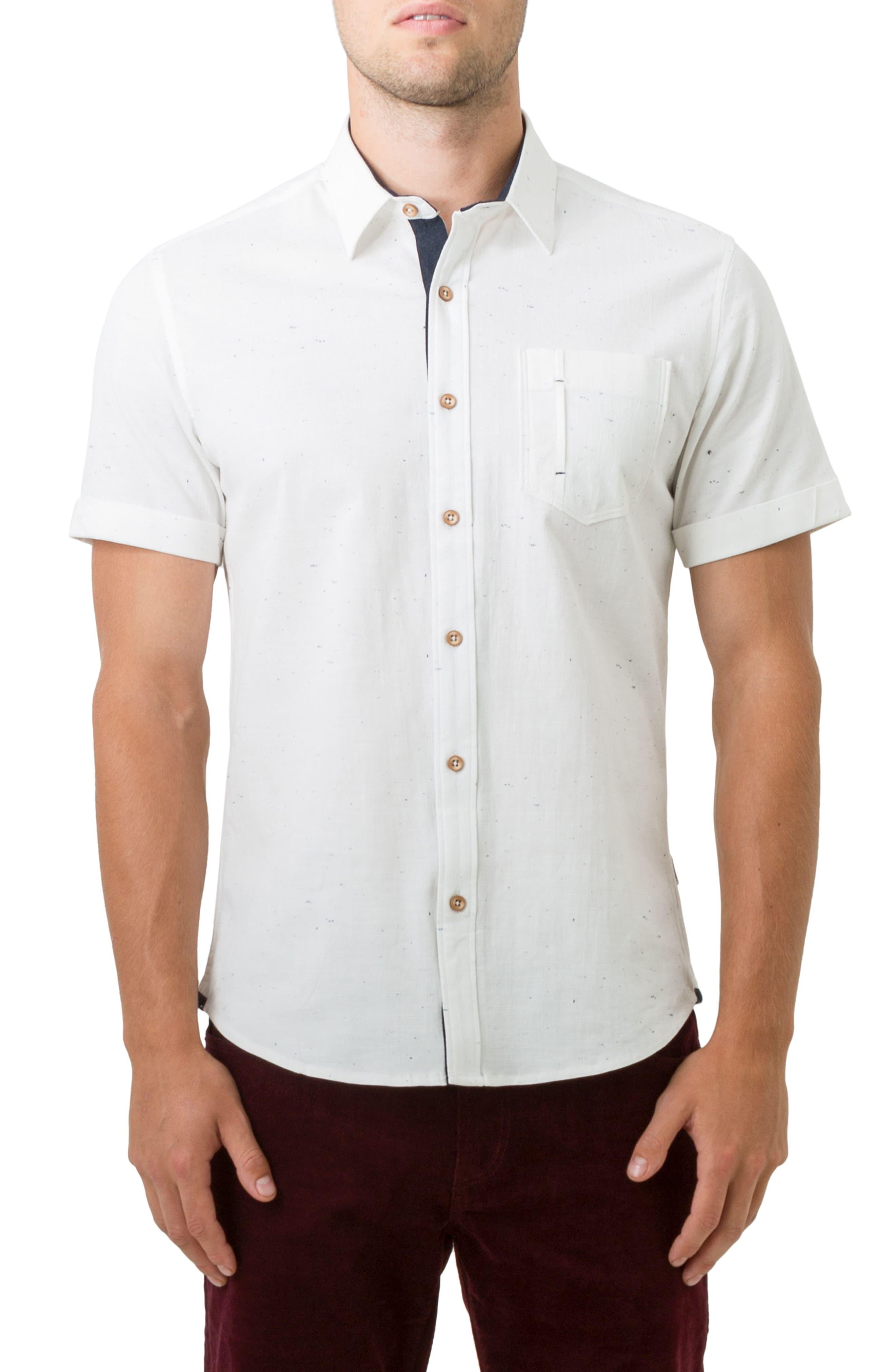 Mystic Traveler Woven Shirt,                         Main,                         color, White