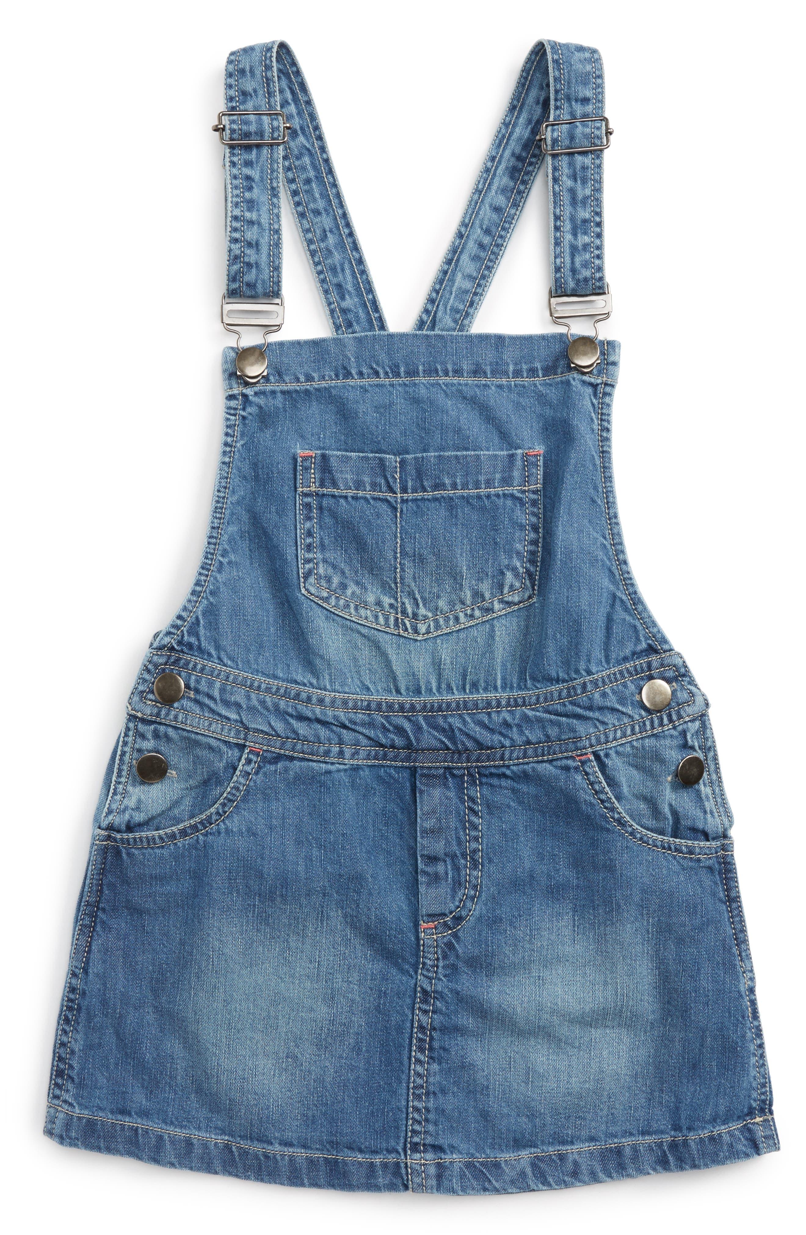 Peek Lea Overall Denim Dress (Toddler Girls, Little Girls & Big Girls)