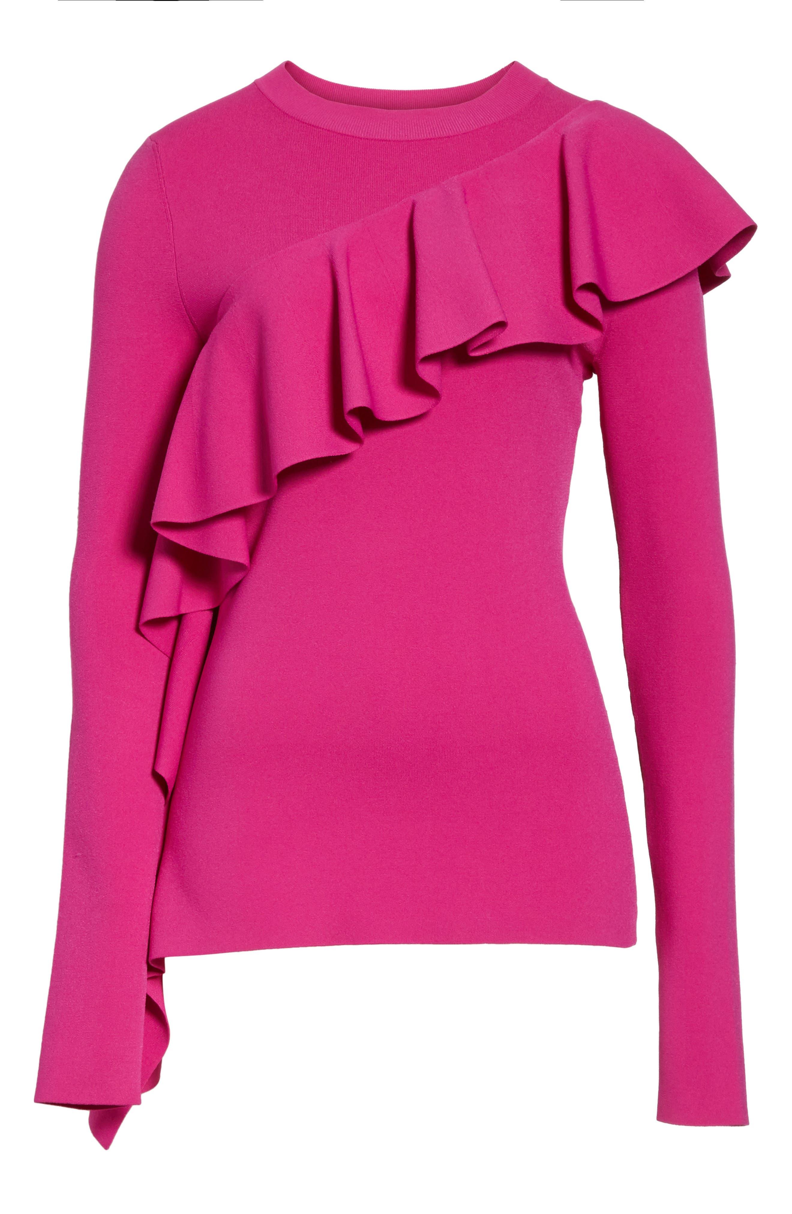 Alternate Image 5  - Diane von Furstenberg Ruffle Front Pullover