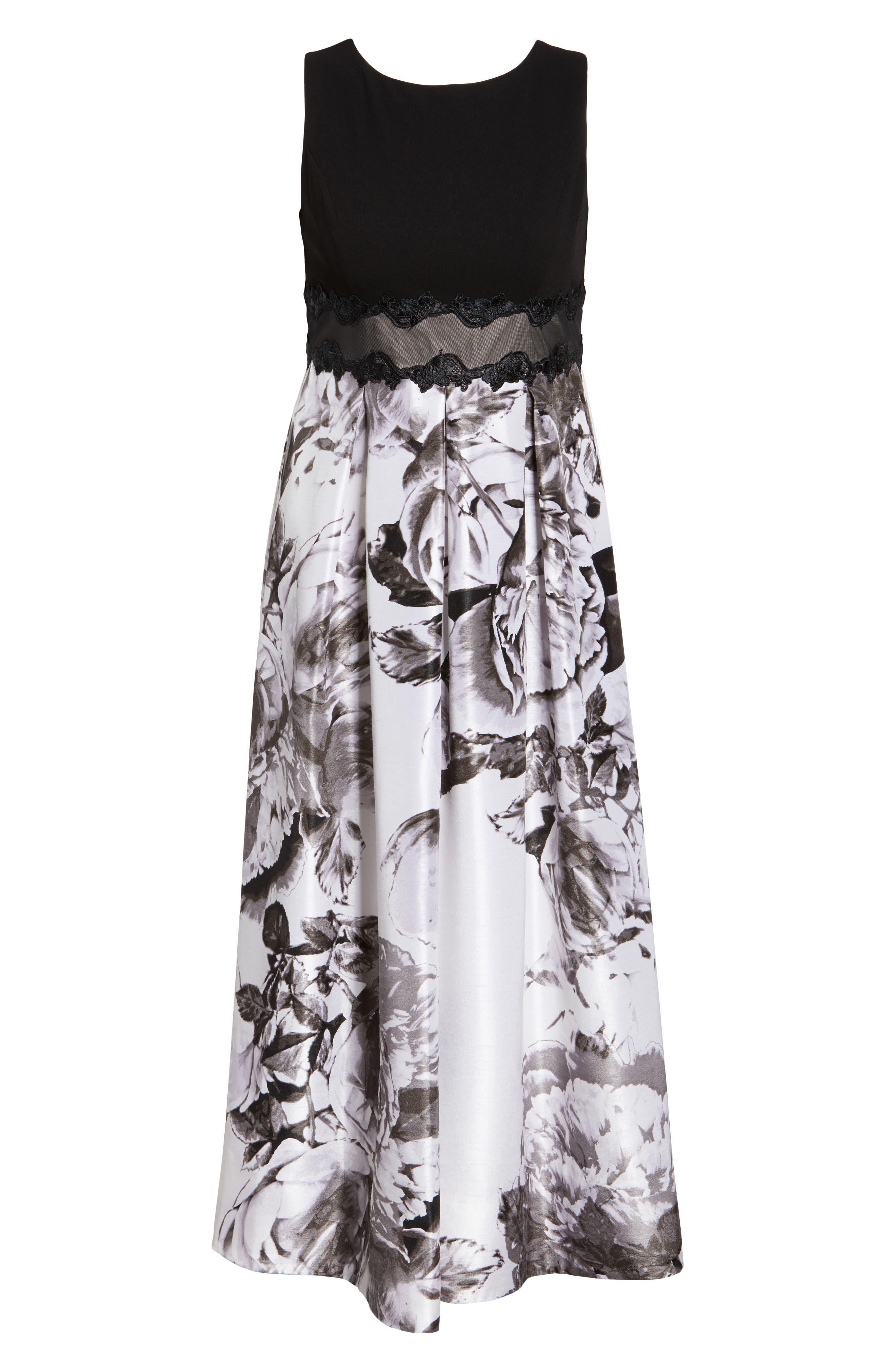Alternate Image 6  - Sangria Floral Print Ballgown (Plus Size)
