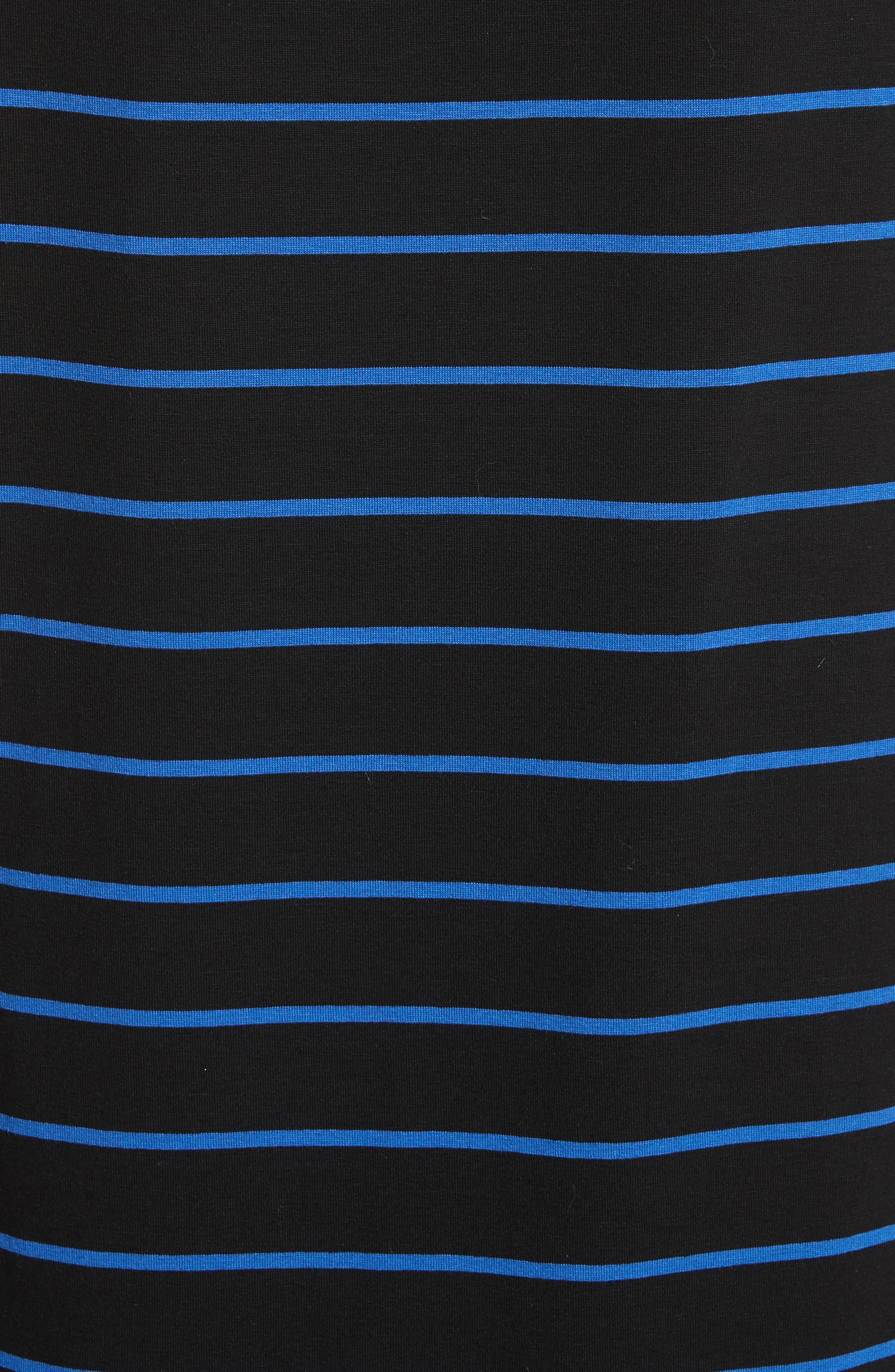 Yarn Dyed Stripe Jersey Top,                             Alternate thumbnail 5, color,                             Caviar/ Niagara/ Bianco