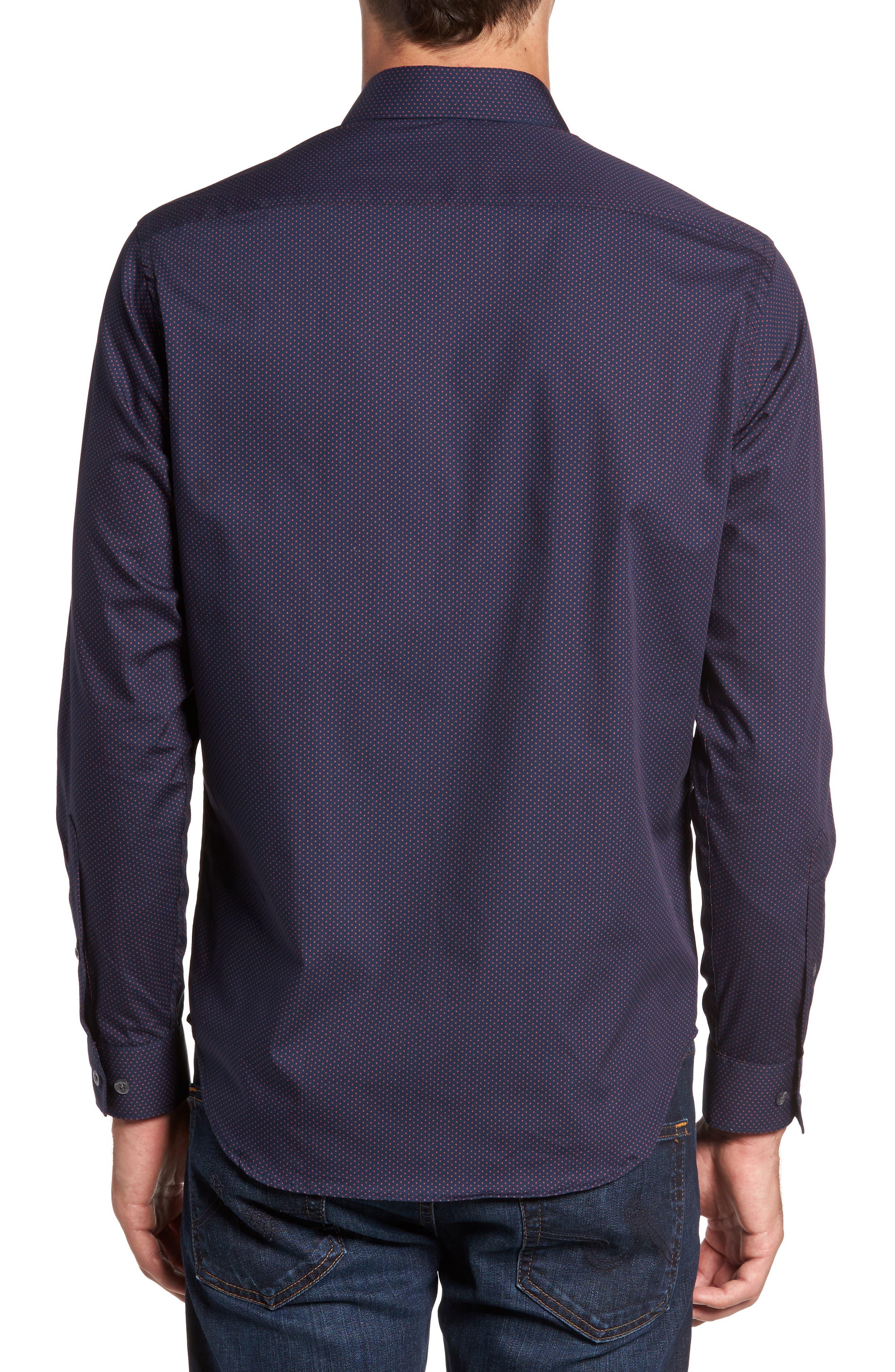 Alternate Image 2  - Jeff Arlington Slim Fit Print Sport Shirt