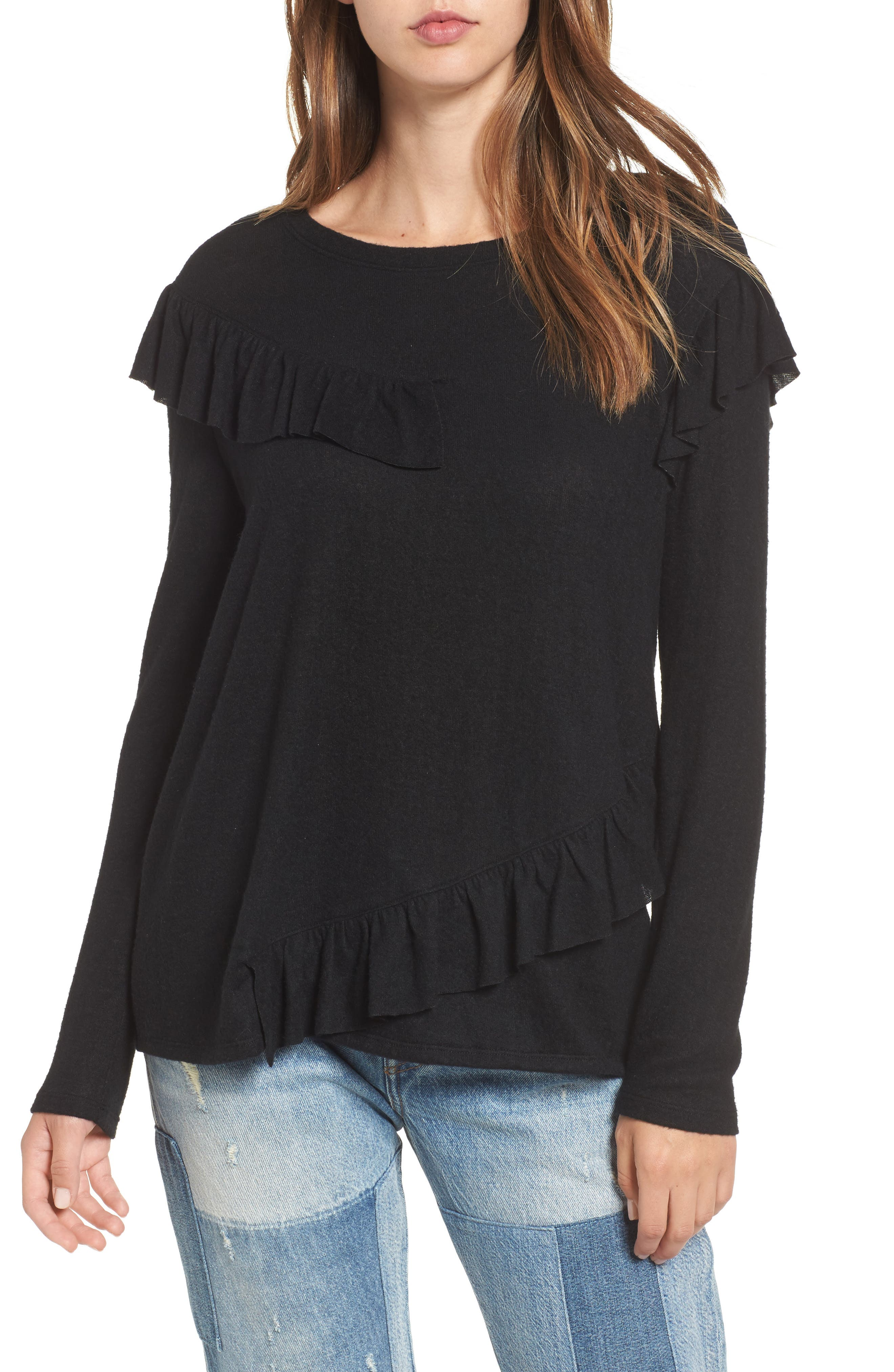 BP. Ruffle Knit Top