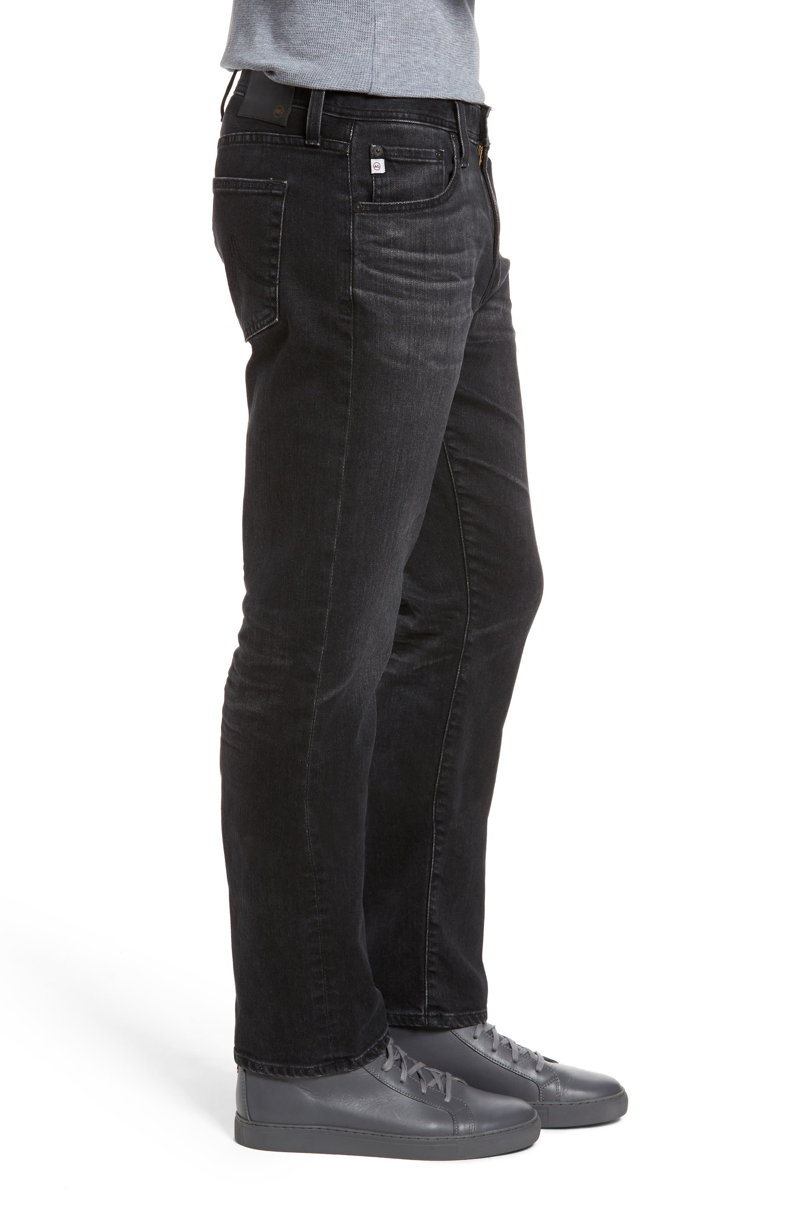Alternate Image 3  - AG Graduate Slim Straight Fit Jeans (7 Years Asphalt)