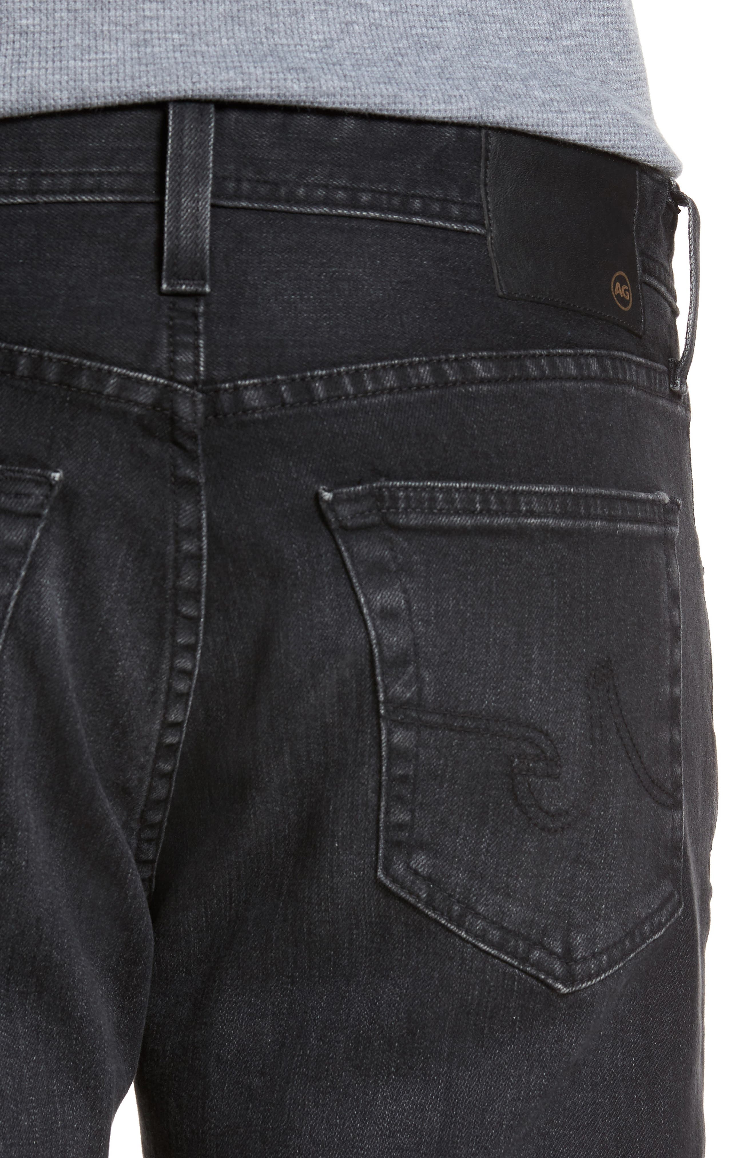 Alternate Image 4  - AG Graduate Slim Straight Fit Jeans (7 Years Asphalt)