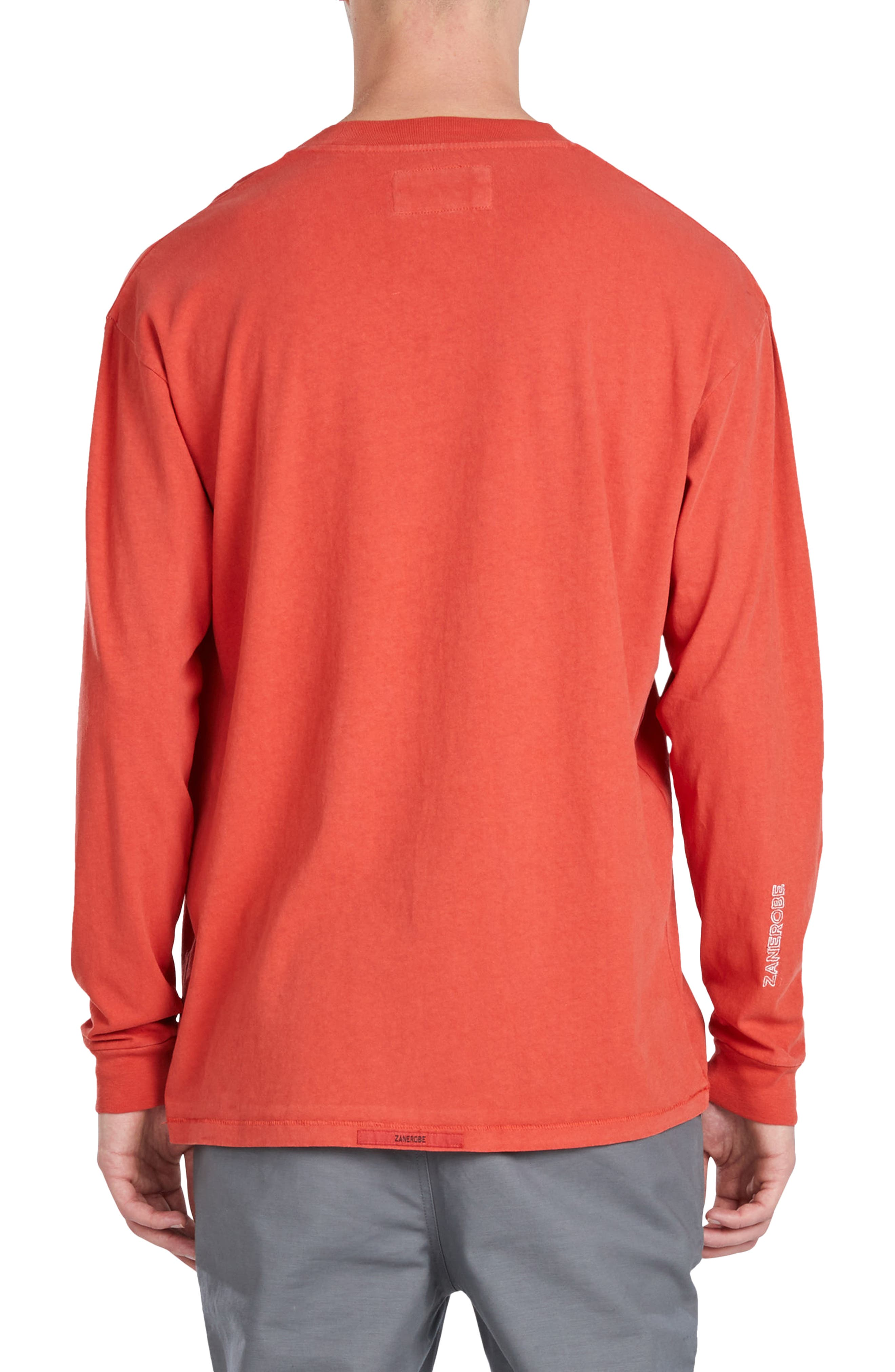 Boxy Long Sleeve T-Shirt,                             Alternate thumbnail 2, color,                             Vintage Red