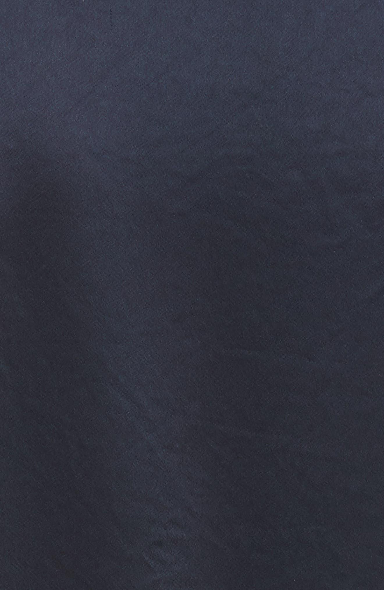 Midi Wrap Dress,                             Alternate thumbnail 5, color,                             Alexander Navy/ Black
