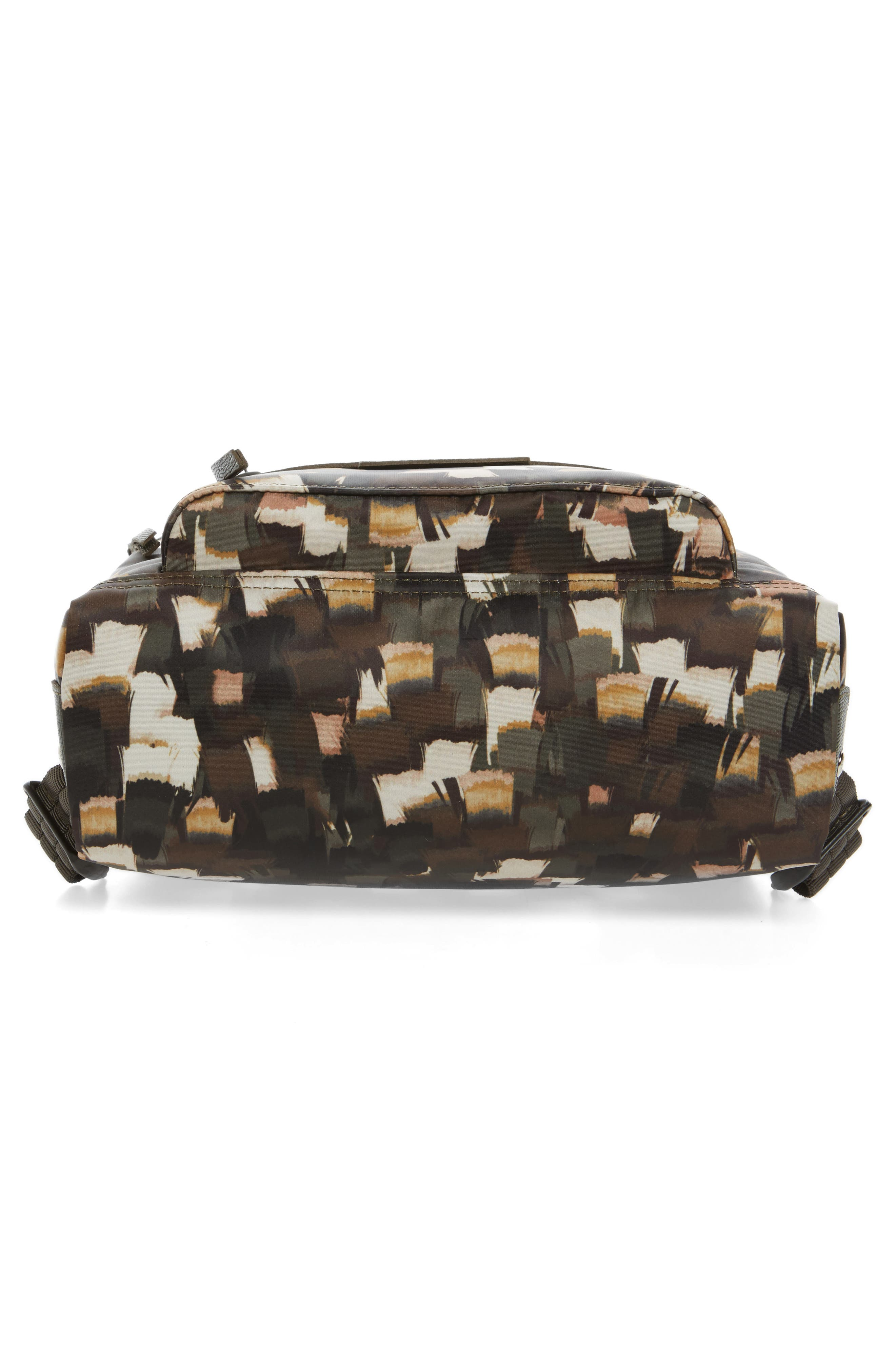 Le Pliage Neo - Vibrations Nylon Backpack,                             Alternate thumbnail 5, color,                             Khaki