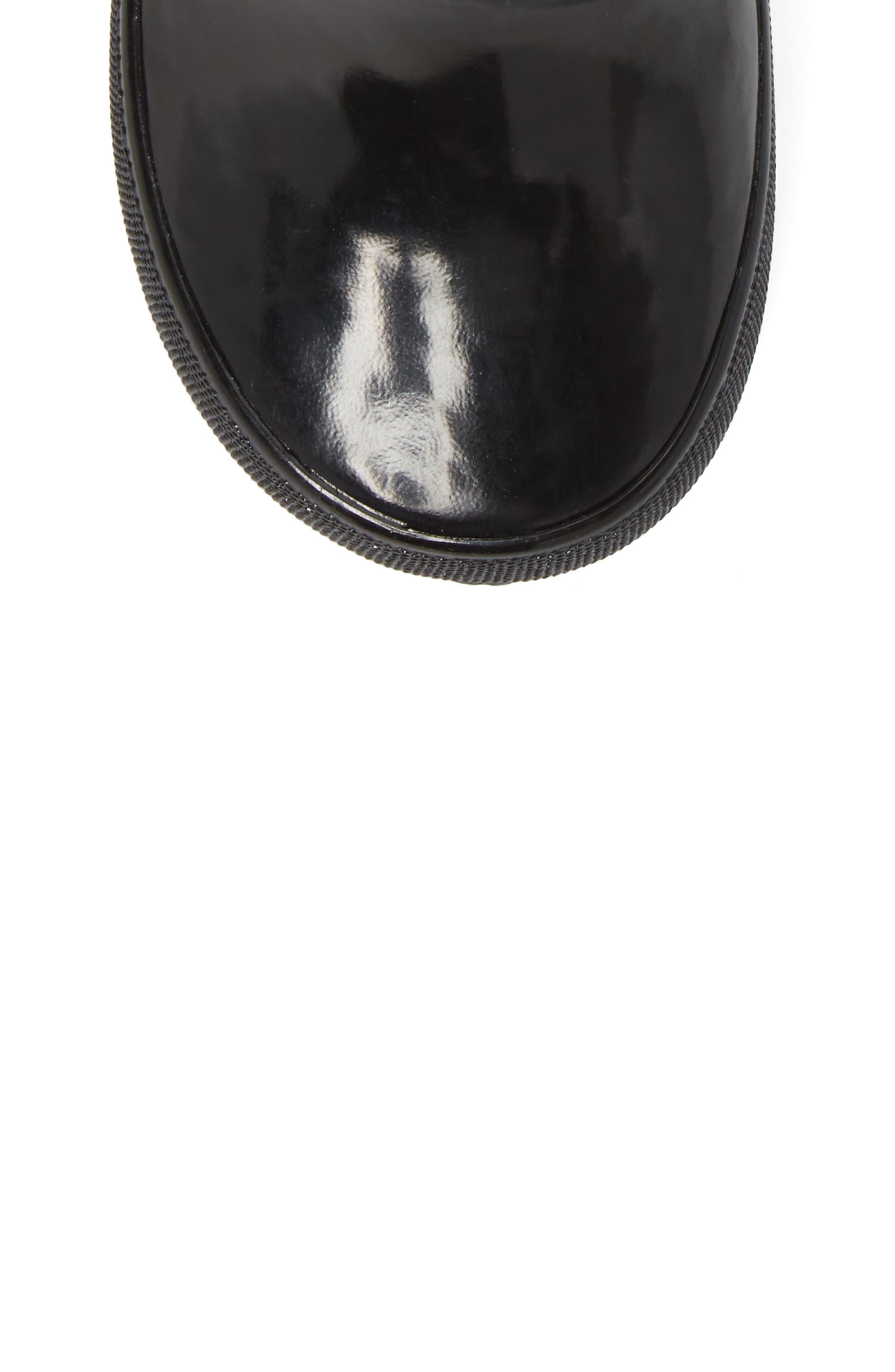 Skipper Rubber Rain Boot,                             Alternate thumbnail 5, color,                             Black