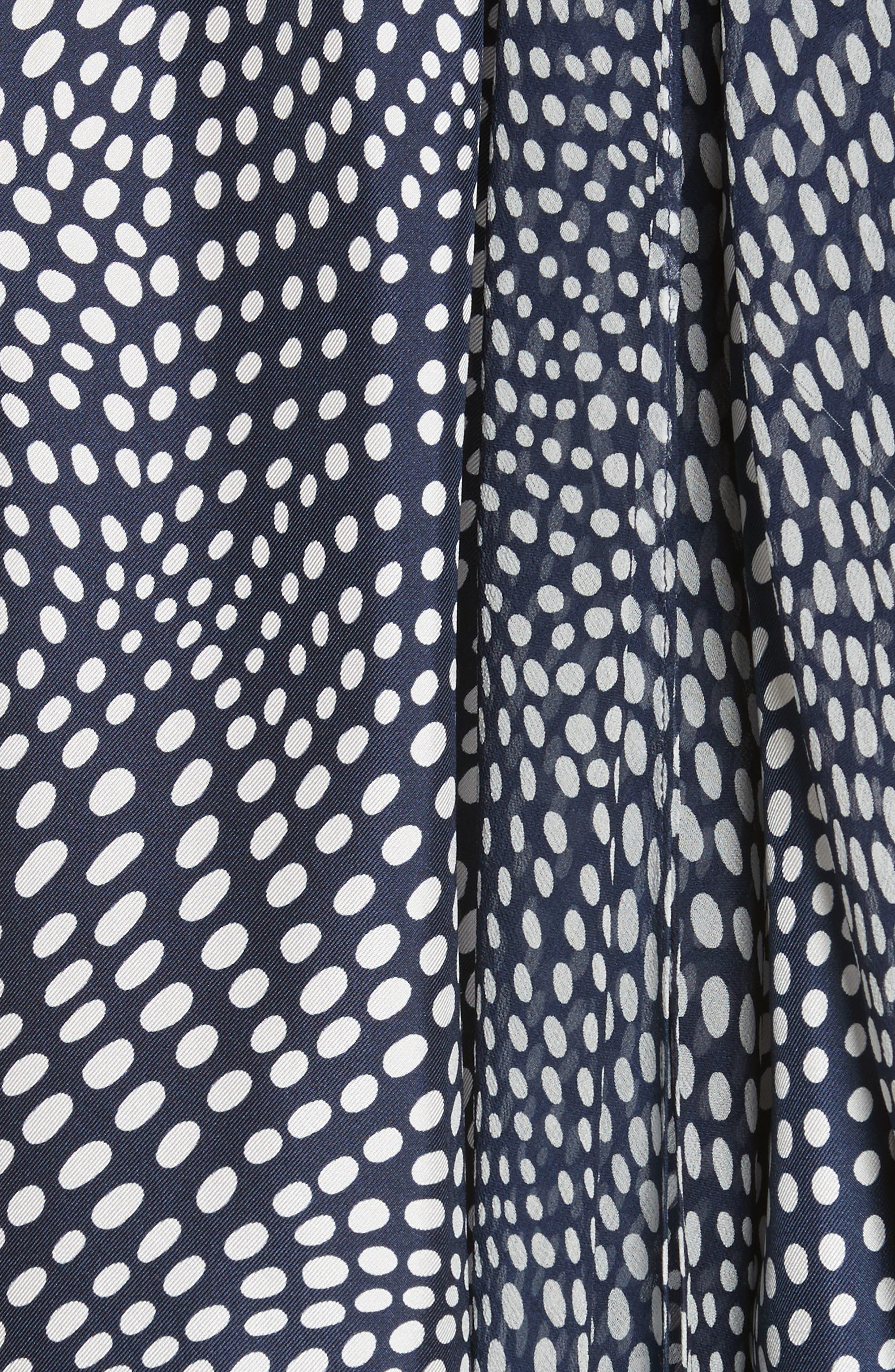 Sleeveless High Neck Blouse,                             Alternate thumbnail 5, color,                             Easton Dot Ivory