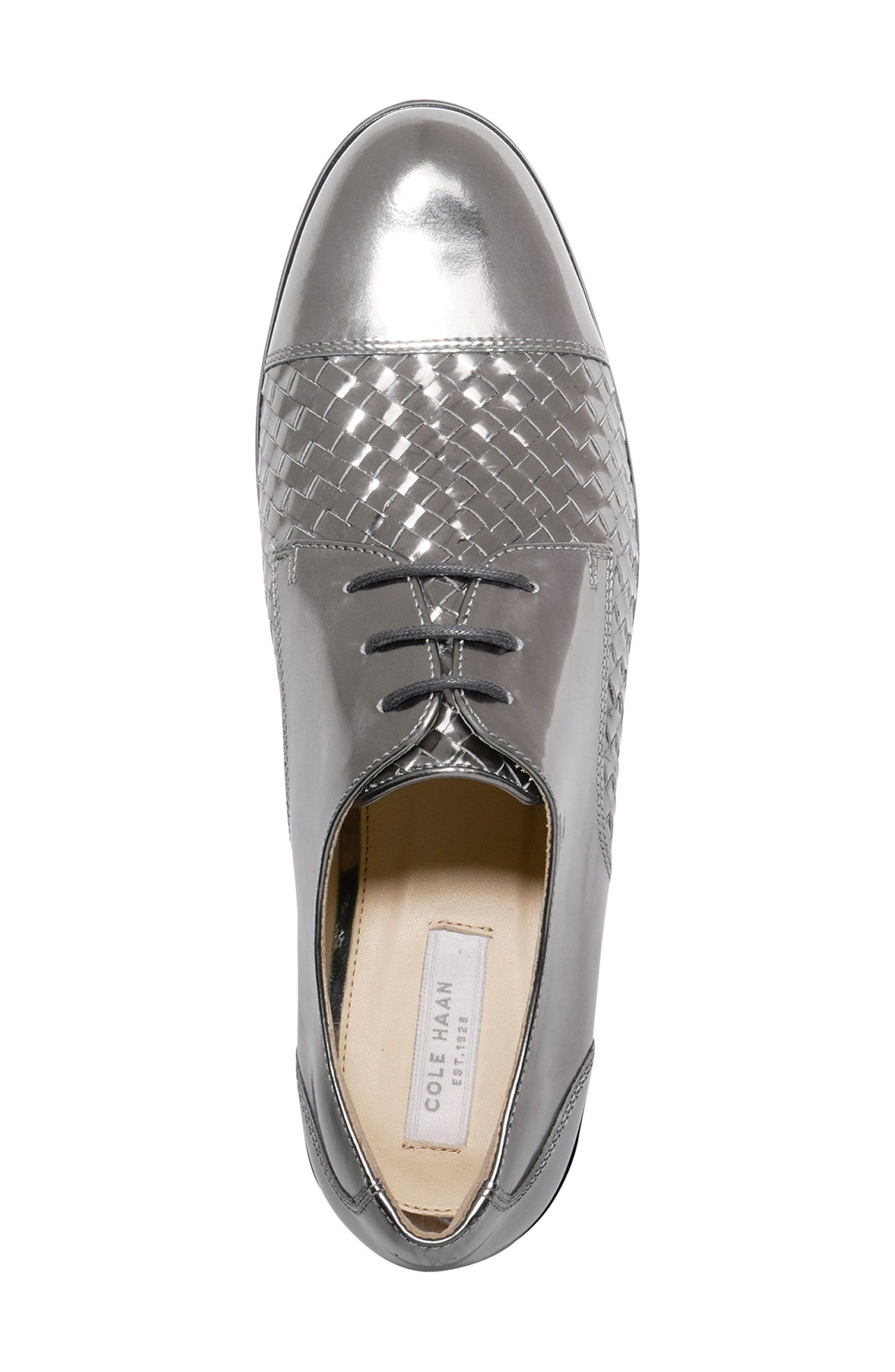 Jagger Oxford,                             Alternate thumbnail 4, color,                             Pewter Leather