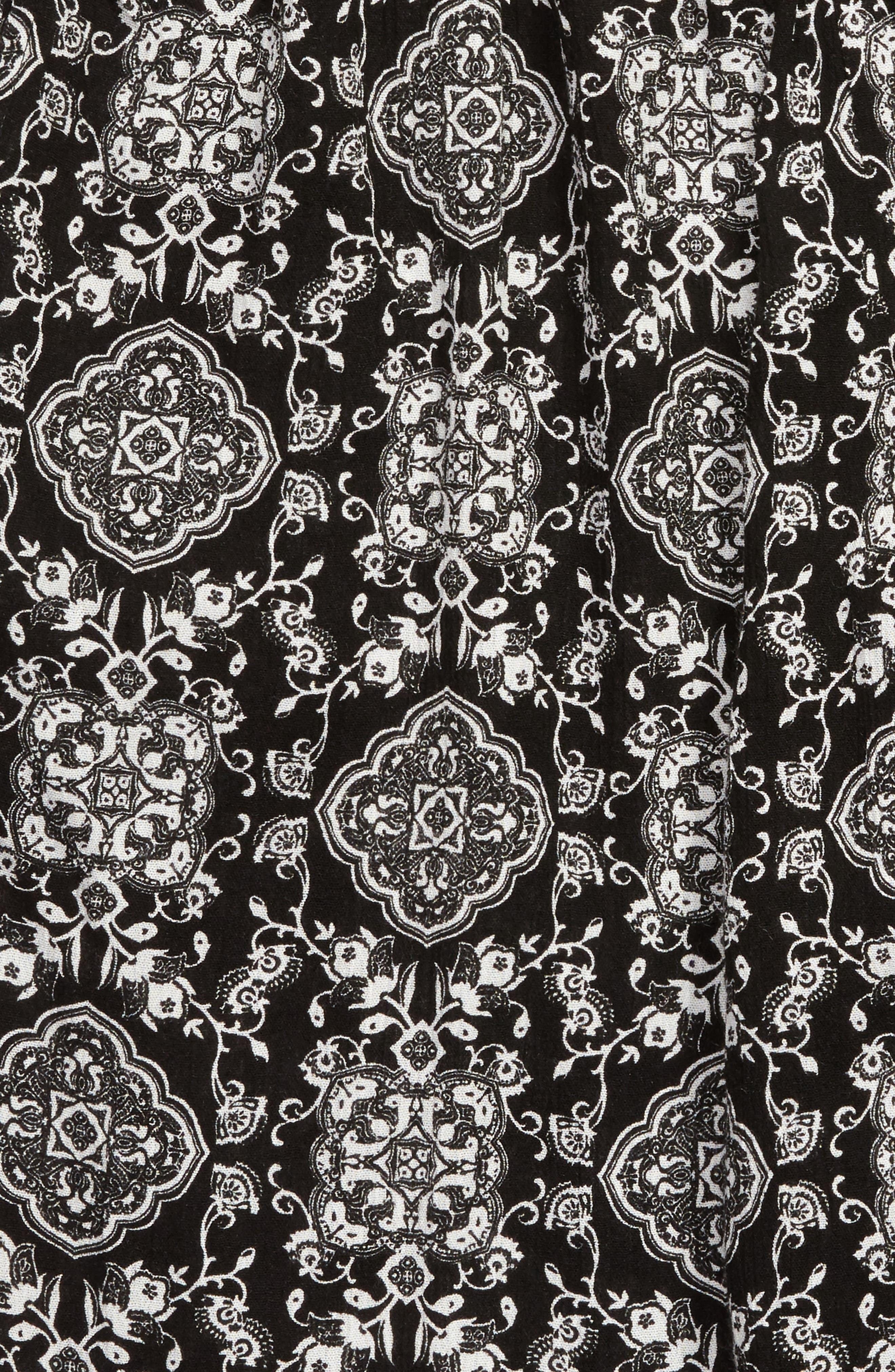 Smocked Jumpsuit,                             Alternate thumbnail 2, color,                             Black/ White