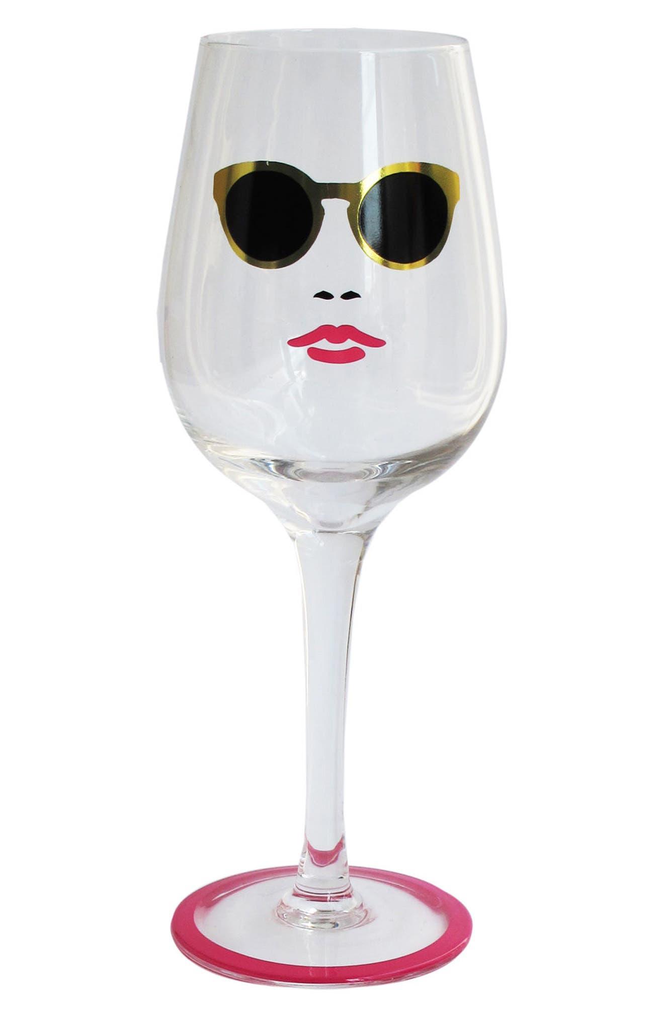 Fashion Week Wine Glass,                             Main thumbnail 1, color,                             Shades