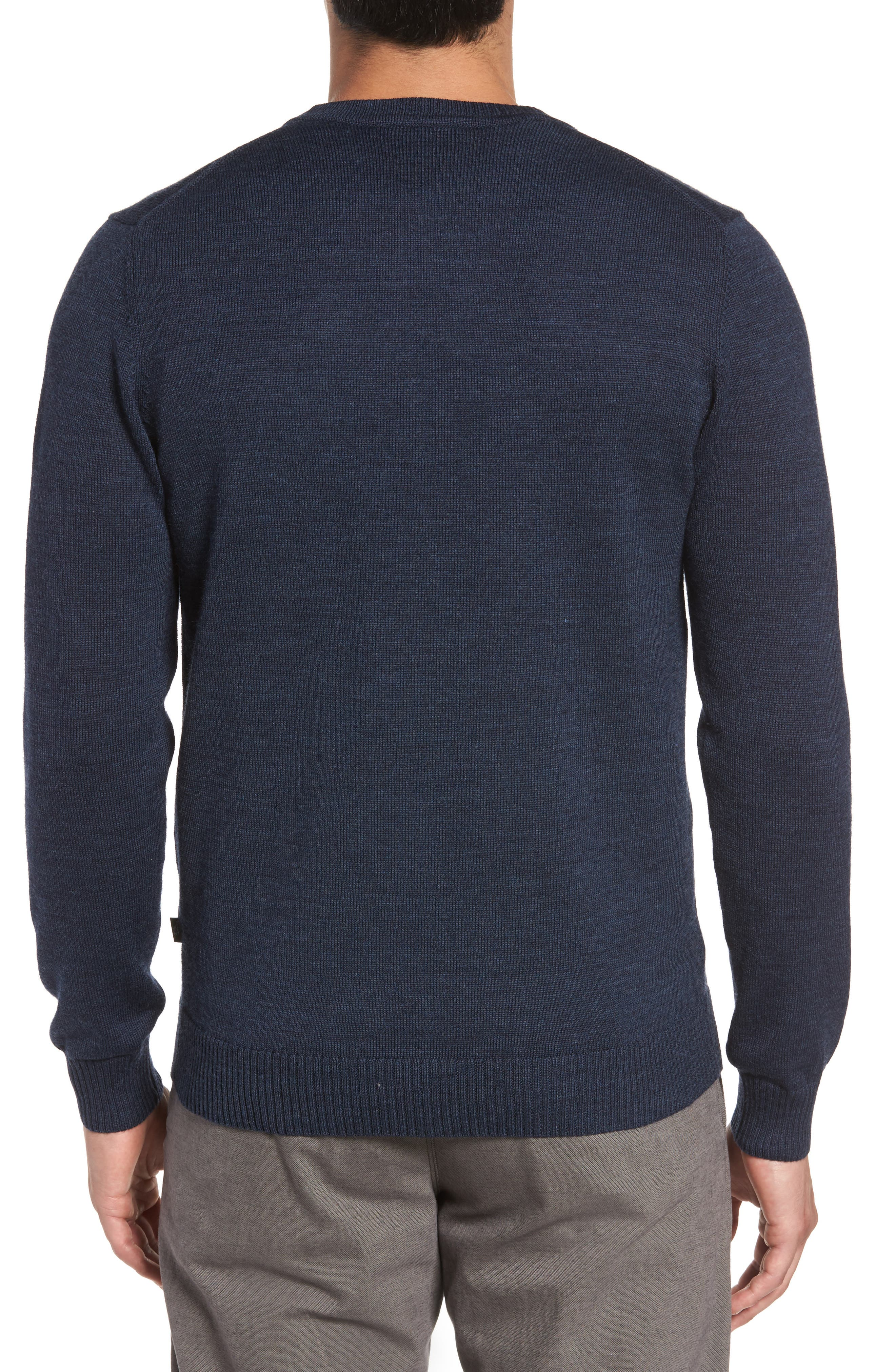 Bannockburn Mélange Merino Wool Sweater,                             Alternate thumbnail 2, color,                             Ink