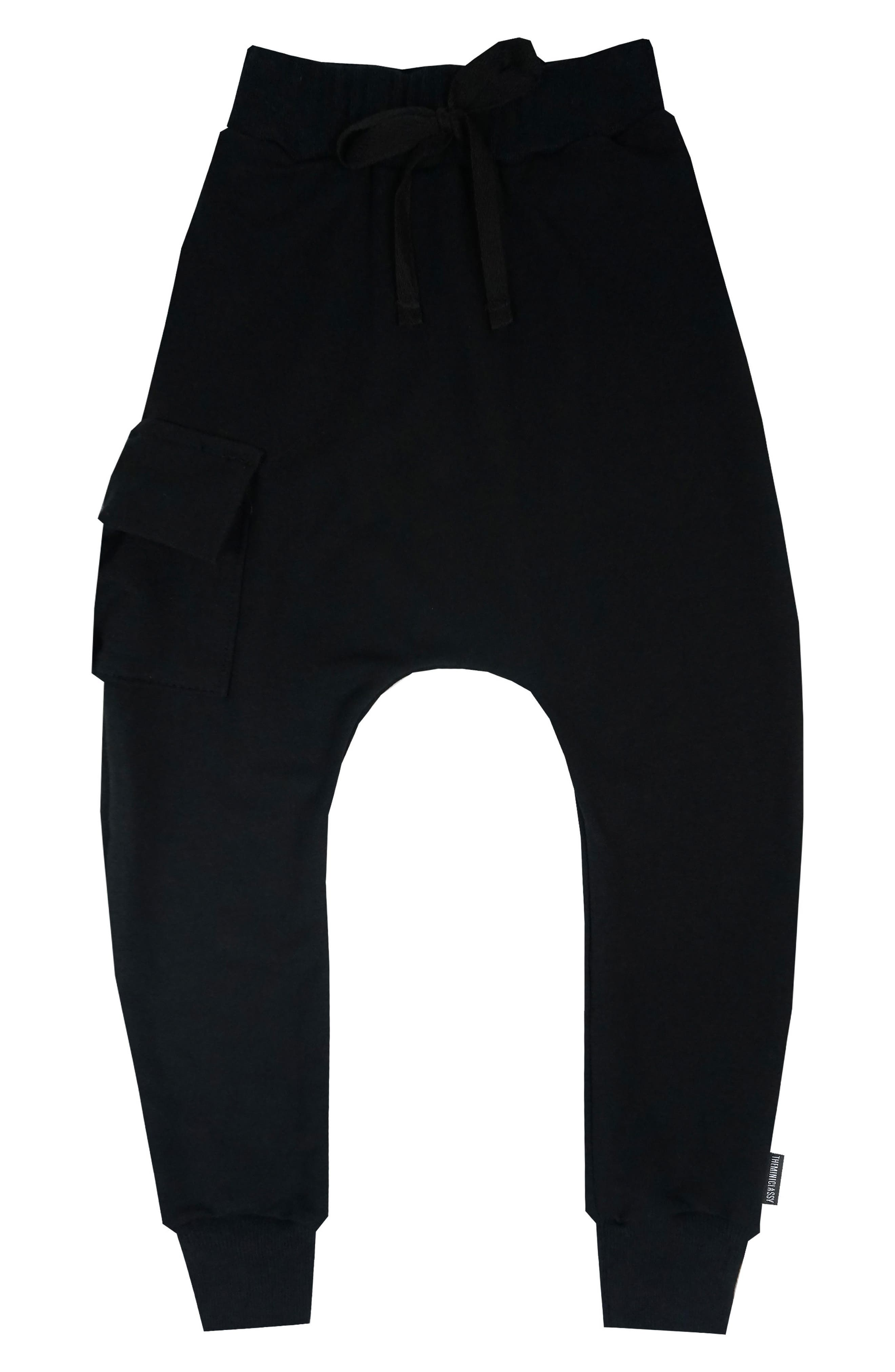 Cargo Jogger Pants,                             Main thumbnail 1, color,                             Black