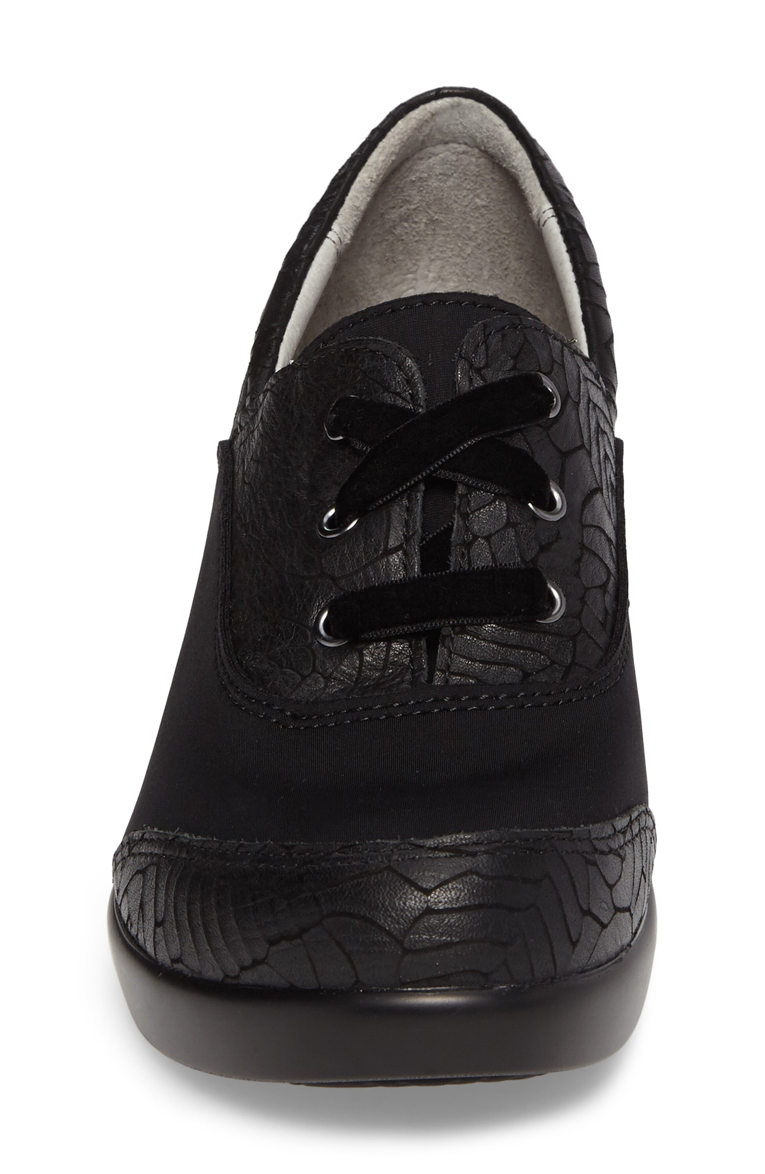 Madi Lace-Up Shoe,                             Alternate thumbnail 4, color,                             Floral Notes Leather